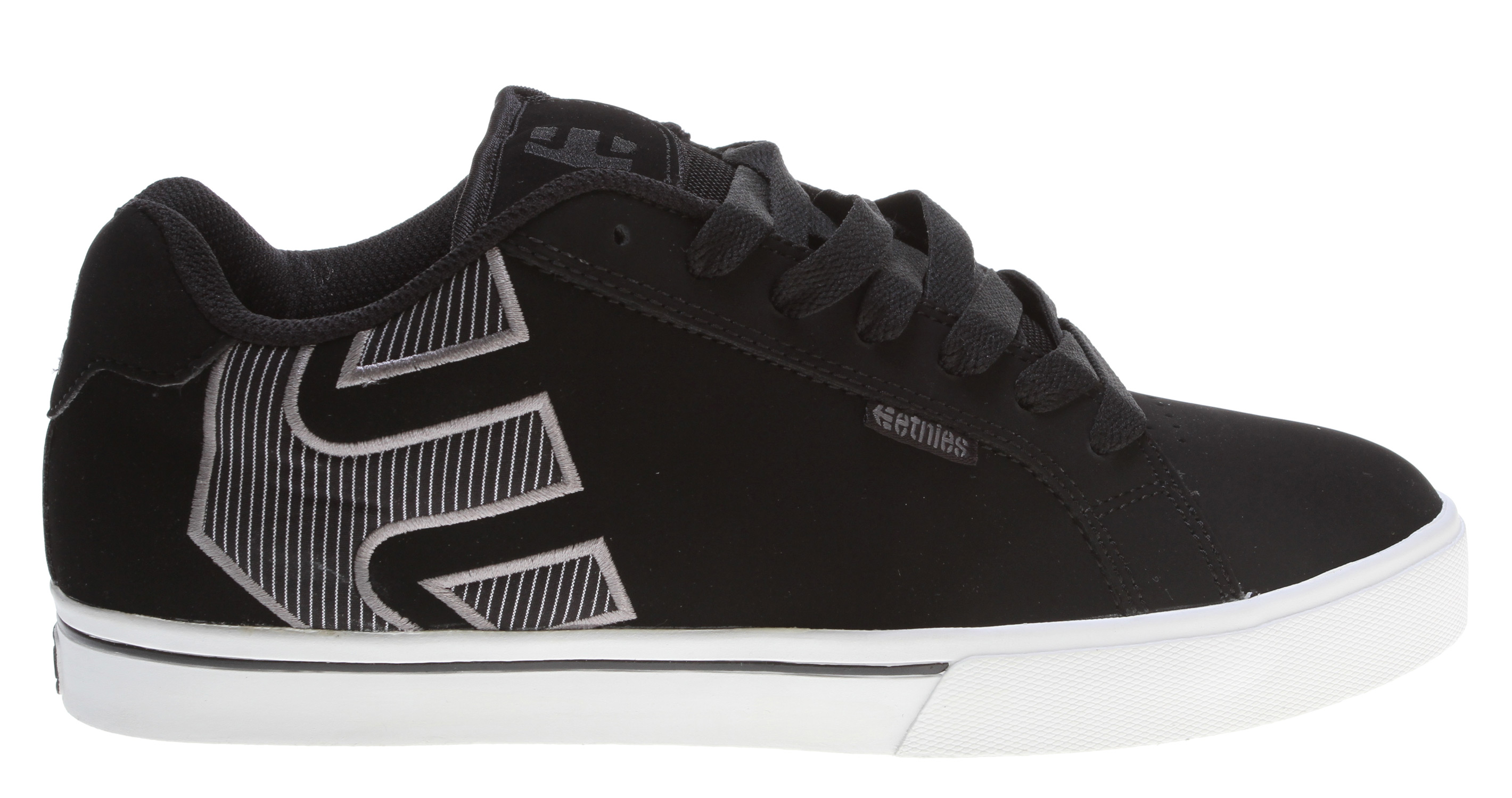 Skateboard Key Features of the Etnies Fader 1.5 Skate Shoes: Trademark etnies Arrow logo integrated into heel area Padded tongue and collar STI Foam Lite level 1 footbed New 400 NBS rubber outsole with internal EVA midsole - $41.95