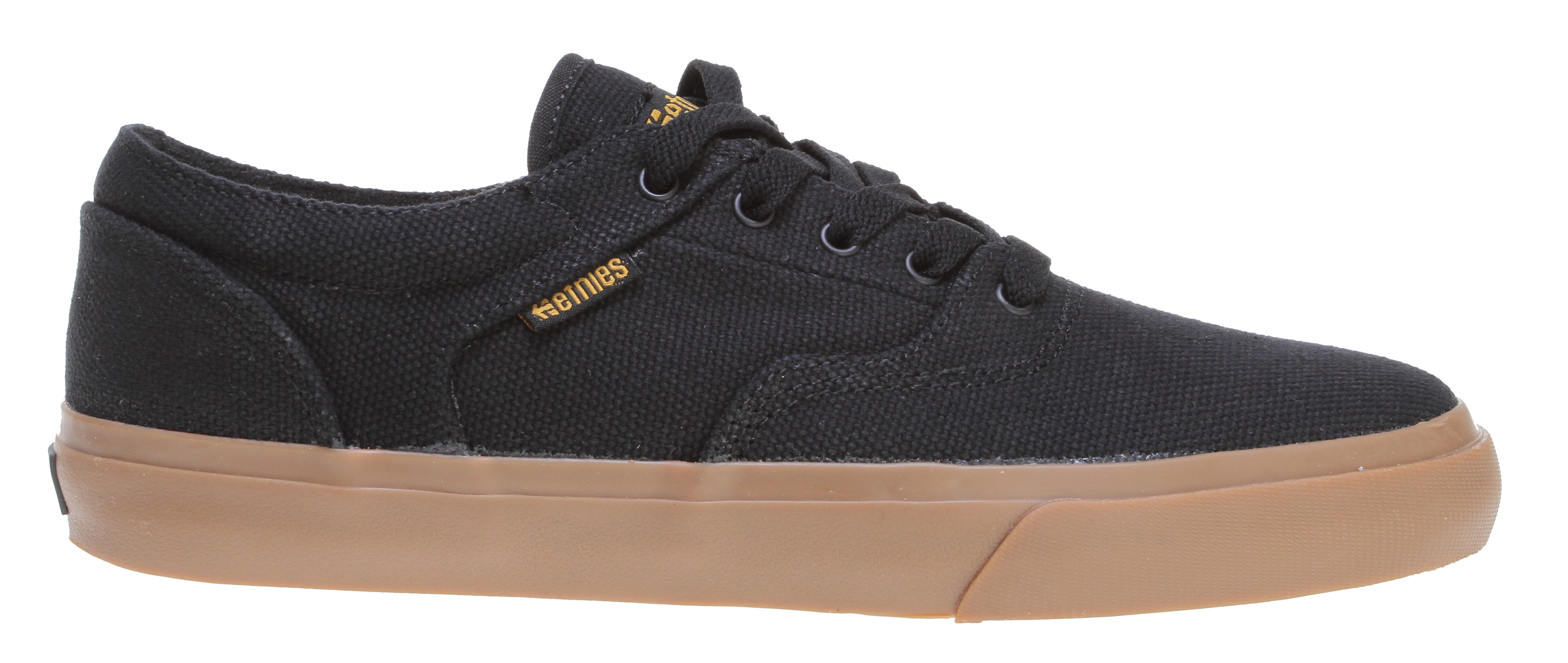 Skateboard Key Features of the Etnies Fairfax Skate Shoes: Textile upper in a technical skate shoe style with round toe Lace-up front with lightly padded tongue and collar Soft lining, removable STI DTTF Pro 1 cushioning insole Rubber midsole with textured toe bumper 400 NBS rubber outsole - $35.95