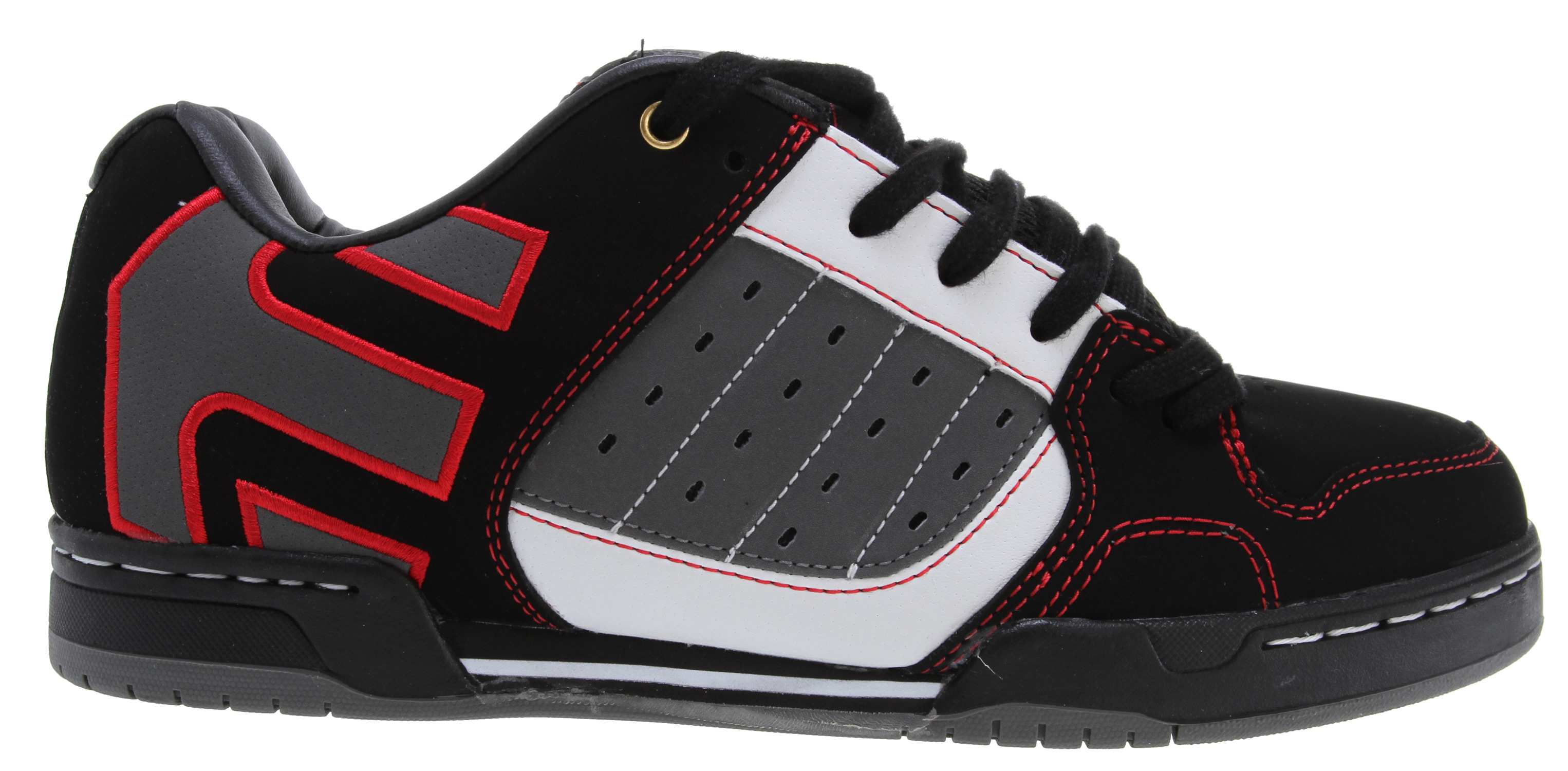 Skateboard Key Features of the Etnies Piston LX Skate Shoes: Trademark etnies Arrow logo Padded tongue and collar STI Foam Lite level 1 footbed New 300 NBS double cup rubber outsole with exposed EVA midsole - $52.95
