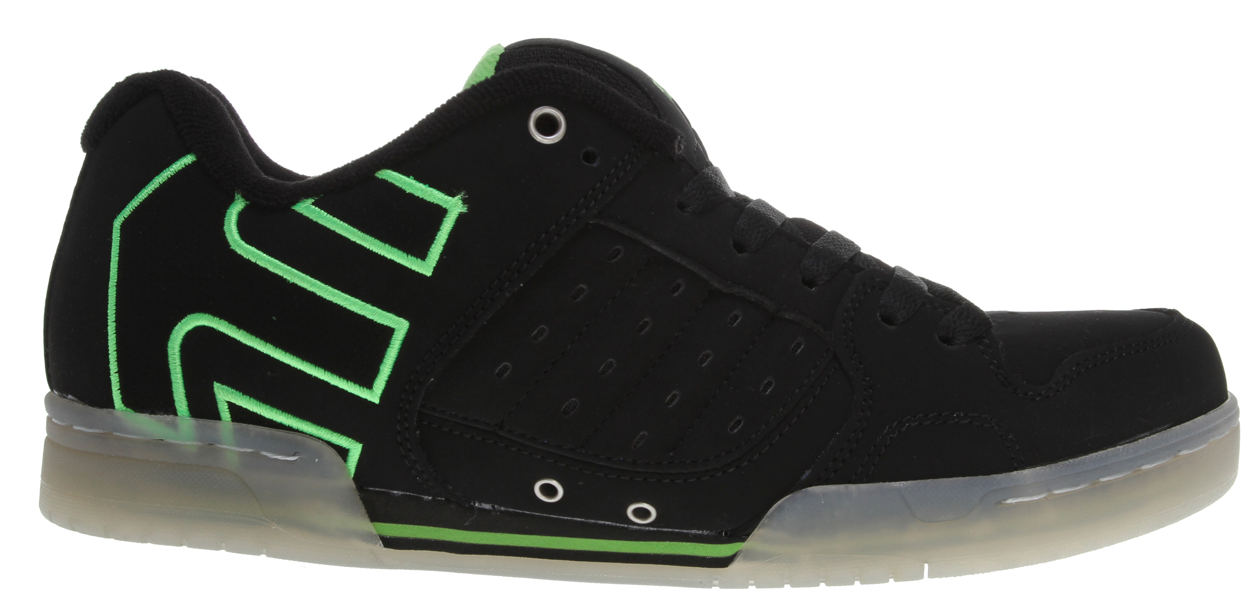 Skateboard Etnies Piston Skate Shoes provide long lasting support. With a padded skate shoe tongue and collar, you'll skate in comfort. These Etnies Piston Skate Shoes are made strong as well as safe for your skating needs. Step out in style. These skate shoes will bring you hours of pleasure in the skating rink. These skate shoes have good padding and support so you can skate in style and comfort.  Trademark etnies Arrow logo    Padded tongue and collar   STI Foam Lite level 1 footbed   300 NBS double cup rubber   Exposed EVA midsole - $41.95