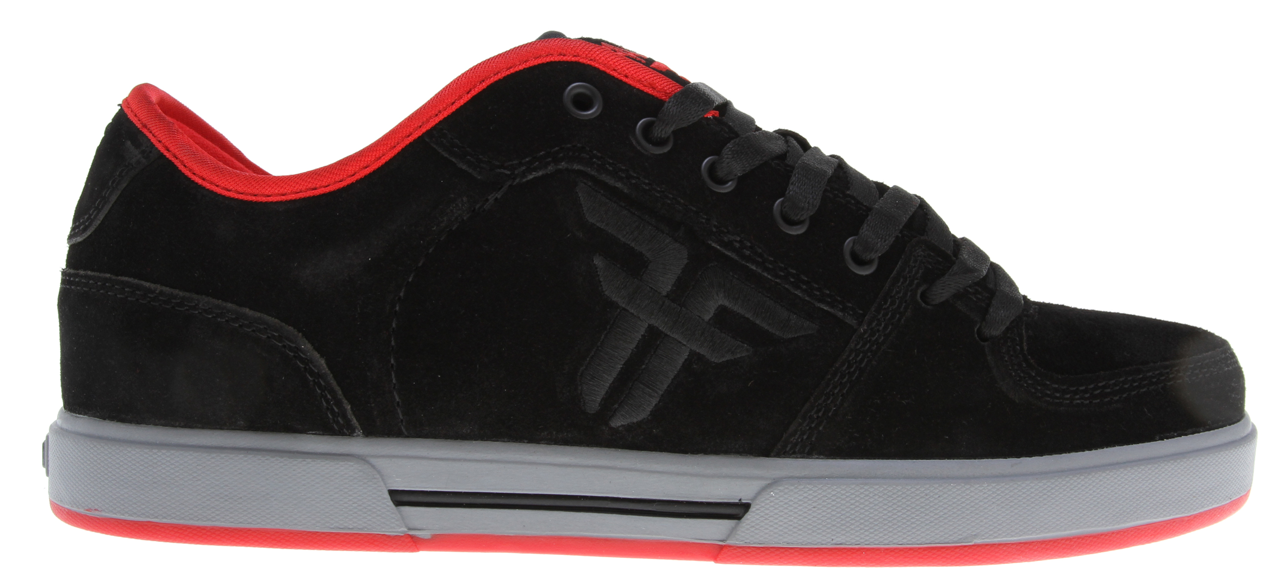 Skateboard The Patriot II is a classic skate silhouette and a all-time staple in the Fallen line. This shoe is designed to be highly supportive, price conscious and traditionally durable. Key Features of the Fallen Patriot II Skate Shoes: Genuine heavy duty suede or synthetic nubuck upper Asymmetric stabilizer for medial upper support Lightly foam-padded collar and tongue for comfort and support EVA insole to absorb impact and provide cushioning Lightweight EVA midsole for additional comfort and impact cushioning Highly abrasion-resistant outsole for wear and durability - $44.95