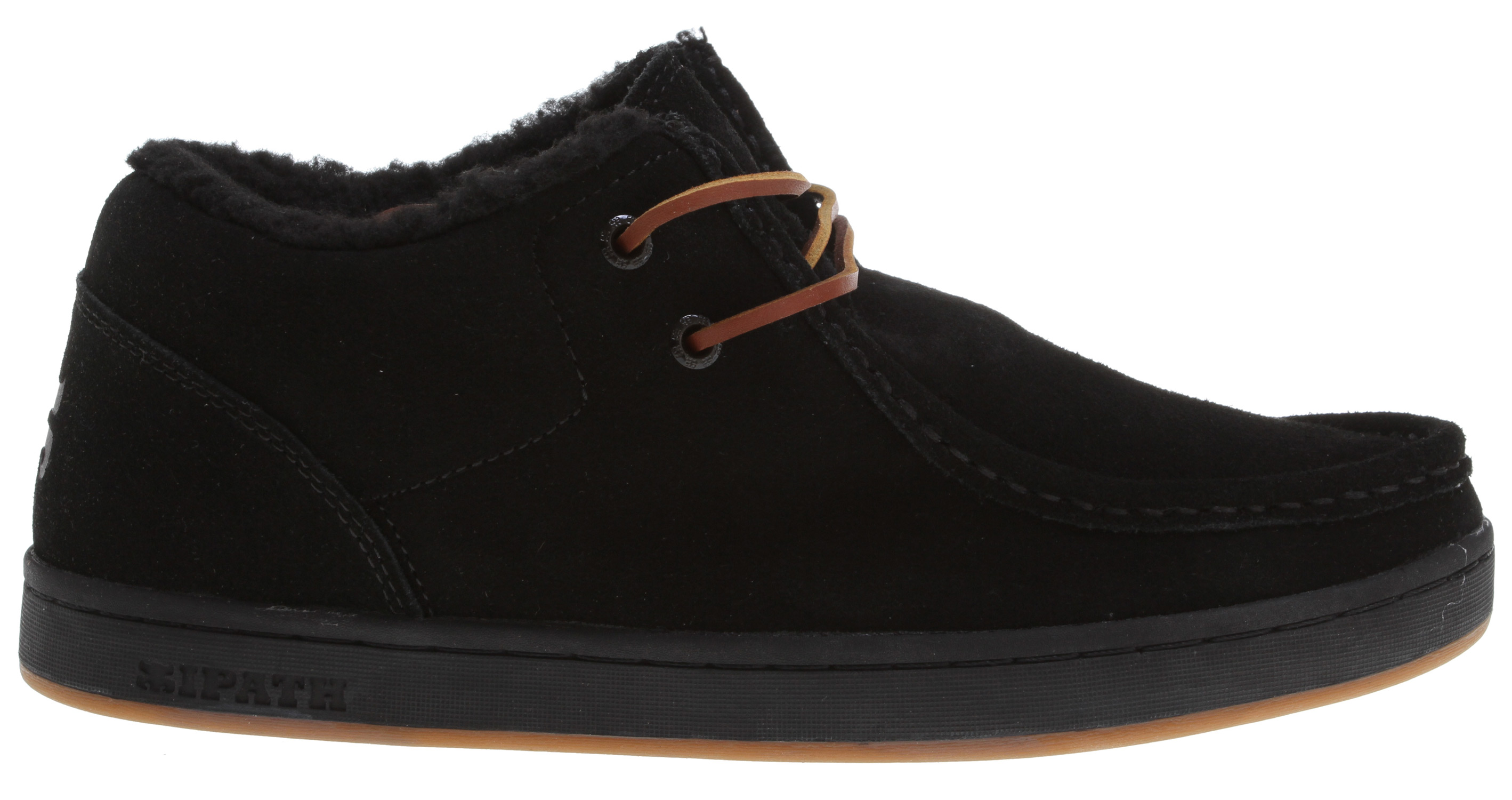 Skateboard Slip into something a little more comfortable with Ipath. These new casual shoes feature a vegan leather upper material, synthetic shearling liner to keep your feet toasty warm and a rubber gum sole that delivers plenty of traction and grip for when conditions are slick.Key Features of the Ipath Cat Shearling Shoes: Upper Material:[upper] vegan leather; [lining] synthetic shearling Sole: gum rubber Lacing: two-eye Recommended Use: casual Manufacturer Warranty: 1 year - $58.95