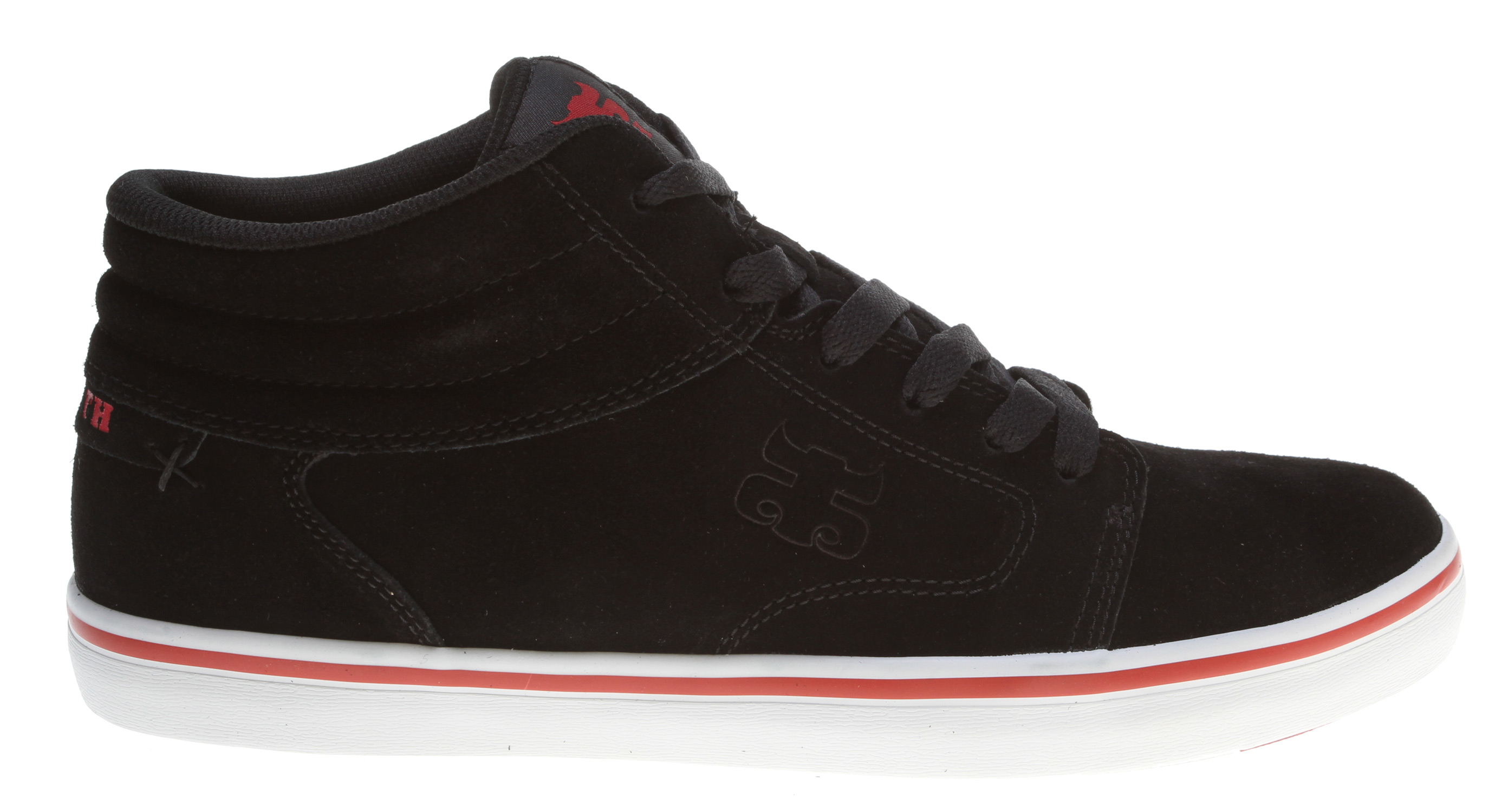 Skateboard The Stash Mid is everything a skate shoe should be, featuring a clean seamless toe with mid-top cut for ankle support and a classic vulc outsole. The Stash Mid comes complete with stash pocket and cross stich detail. - $51.95