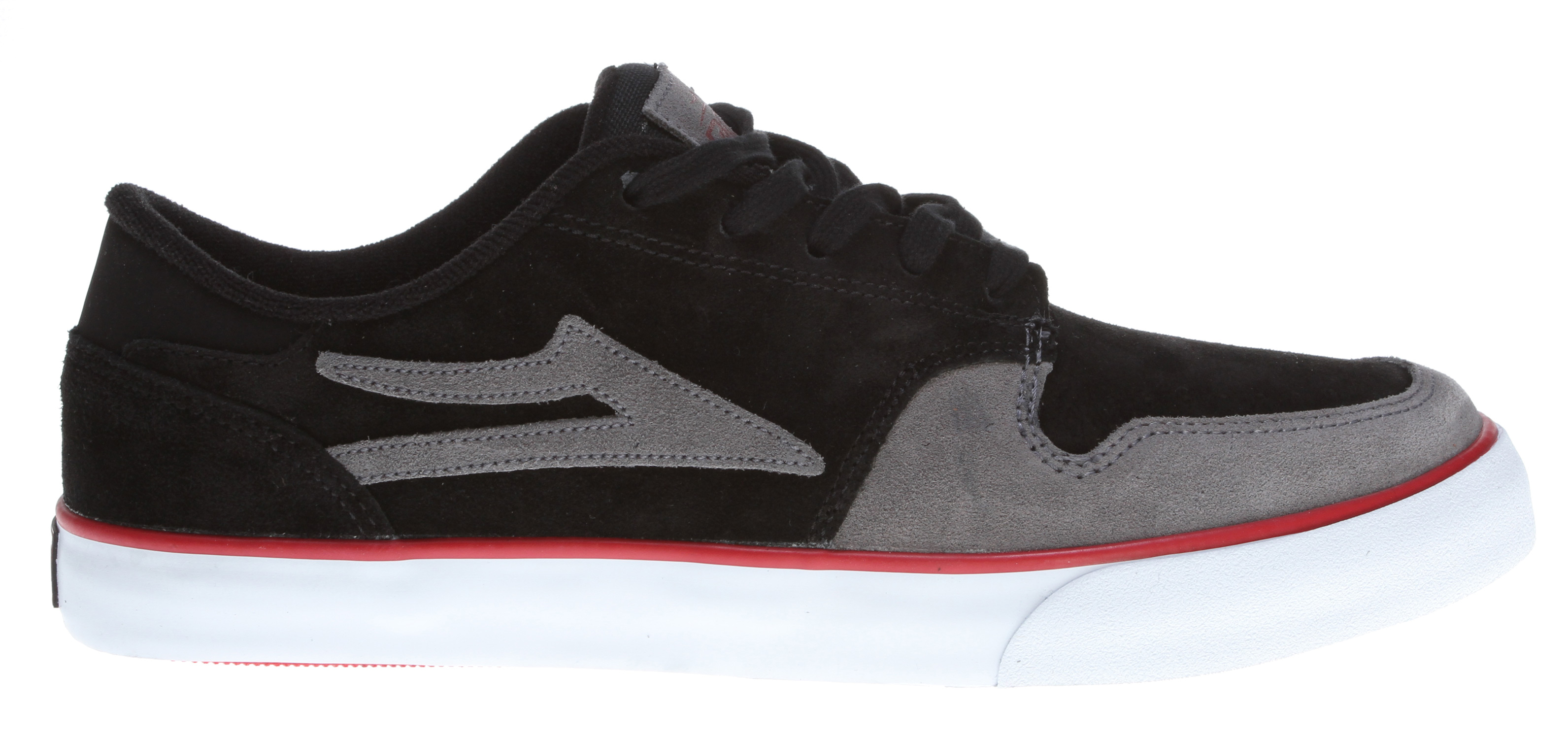 Skateboard Key Features of the Lakai Carroll 5 Skate Shoes: Flexible vulcanized construction Tacky gum rubber outsole Durable suede upper Form fitting upper for increased board feel Molded EVA shock absorbing insole Performance tested and approved by Mike Carroll - $42.95