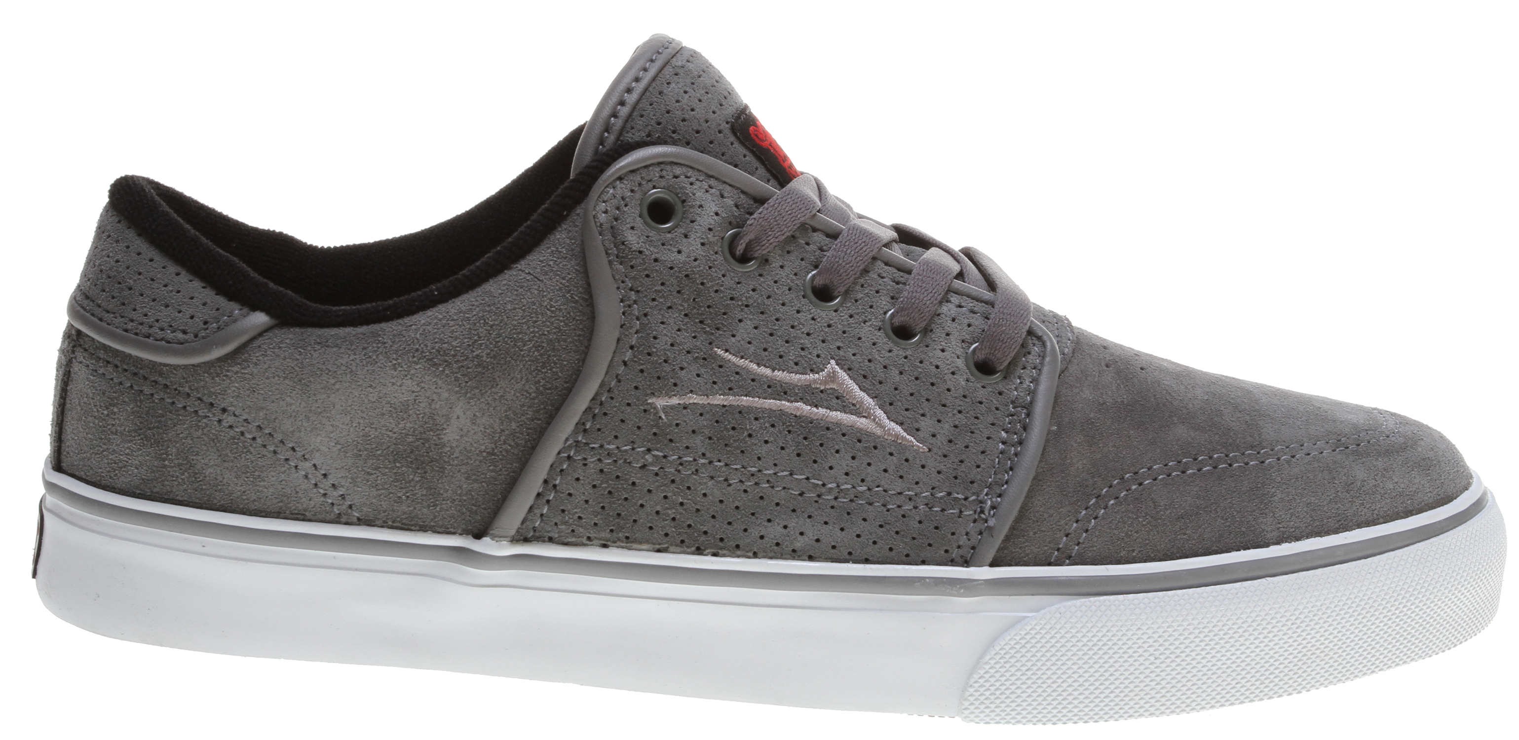 Skateboard Key Features of the Lakai Carlo Skate Shoes: Flexible Vulcanized Construction Tacky Gum Rubber Outsole Durable Suede Or Soft Leather Upper Form Fitting Upper For Increased Board Feel Full-Length Shock Absorbing Insole Performance Tested And Approved By The Lakai Team - $42.95