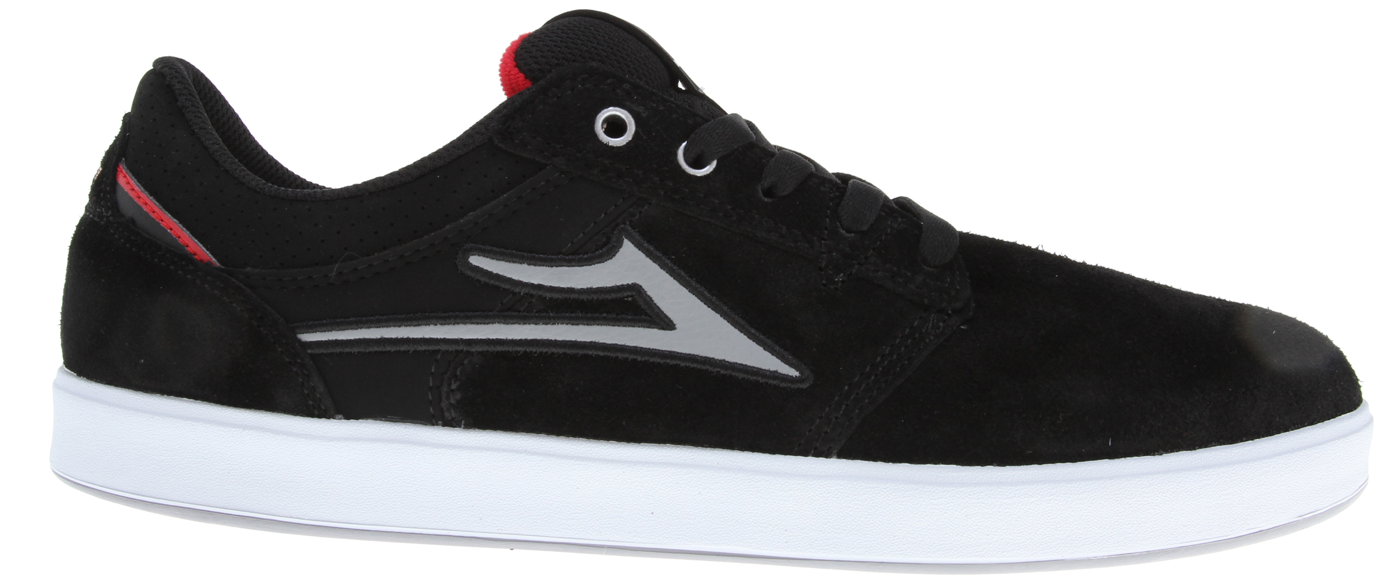 Skateboard Key Features of the Lakai Linden Skate Shoes: Lightweight performance engineered XLK™ sole construction with herringbone tread pattern Molded EVA sockliner for added comfort Form fitting upper for increased board feel Durable suede and nubuck upper with double stitched panel reinforcements Full-length shock absorbing insole - $48.95