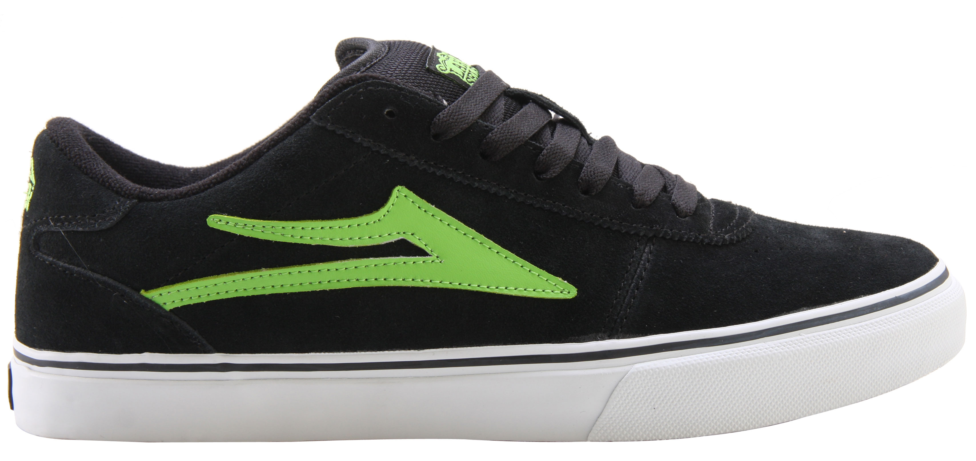 Skateboard Skate shoes should be comfortable, look great, be reasonably priced, and last longer than a few tough months. These Lakai Manchester Select Skate shoes, available in black with lime suede trim design, fit the bill. They are constructed with durability in mind and are built to last. With a comfortable cushioned sole and durable suede or suede/leather upper fabric, these shoes are sure to attract plenty of attention and cradle your feet like a fitted glove.Key Features of the Lakai Manchester Select Skate Shoes: Flexible Vulcanized Construction Tacky Gum Rubber Outsole Durable Suede Or Suede / Leather Upper Form Fitting Upper For Increased Board Feel Full-Length Shock Absorbing Insole - $55.95