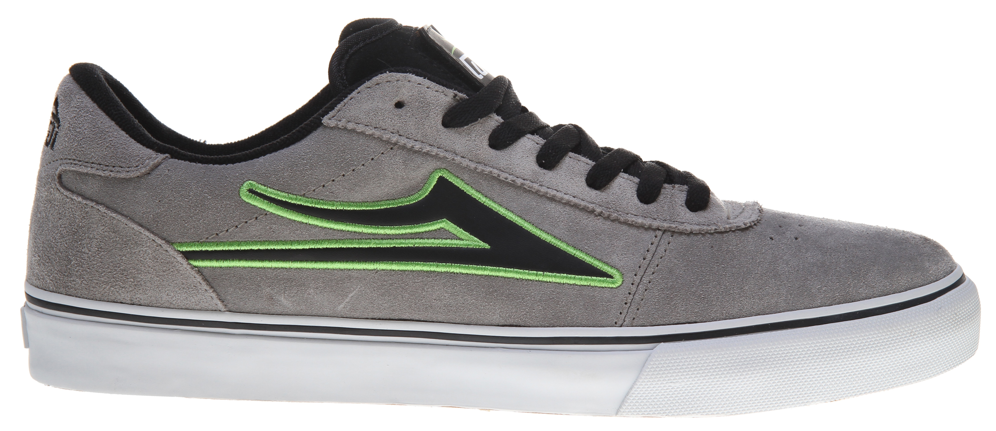 Skateboard Skate shoes should be comfortable, look great, be reasonably priced, and last longer than a few tough months. These Lakai Manchester Select Skate shoes, available in black with lime suede trim design, fit the bill. They are constructed with durability in mind and are built to last. With a comfortable cushioned sole and durable suede or suede/leather upper fabric, these shoes are sure to attract plenty of attention and cradle your feet like a fitted glove.Key Features of the Lakai Manchester Select Skate Shoes: Flexible Vulcanized Construction Tacky Gum Rubber Outsole Durable Suede Or Suede / Leather Upper Form Fitting Upper For Increased Board Feel Full-Length Shock Absorbing Insole Interchangeable tongue patches on Patch Kit colorways only - $37.95