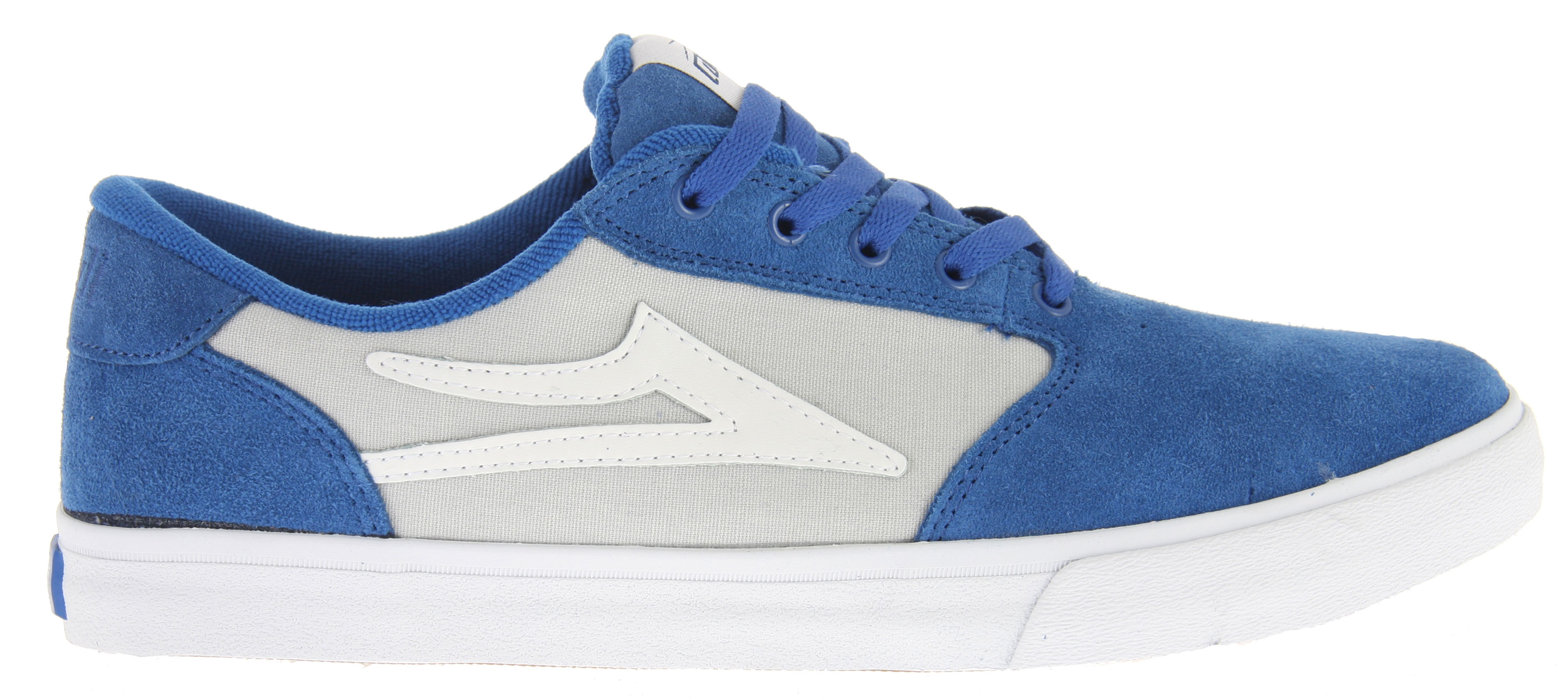 Skateboard Key Features of the Lakai Pico Skate Shoes: Flexible Vulcanized Construction Soft & Tacky Gum Rubber Outsole Durable Suede & Canvas Upper Form-Fitting Upper For Increased Board Feel Full-Length Shock Absorbing Insole - $55.95