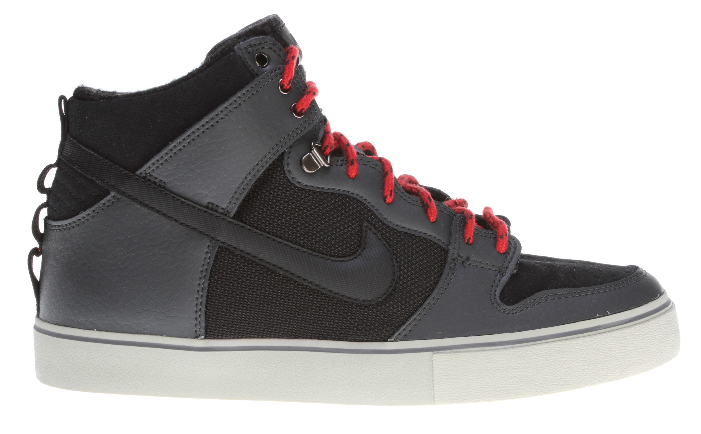 Skateboard Key Features of the Nike Dunk High Lr Skate Shoes: MIDSOLE: Combination drop-in midsole/sock liner designed for maximum comfort and impact protection. UPPER: Leather, suede and Nubuck with classic skate overlays. Lightweight mesh on the tongue and perforations on the vamp for increased breathability. Classic styling with durability and protection. Excellent board control in a low-profile outsole while maintaining good impact absorption. OUTSOLE: Rubber outsole for durability. Designed for flexibility and board feel. - $81.95
