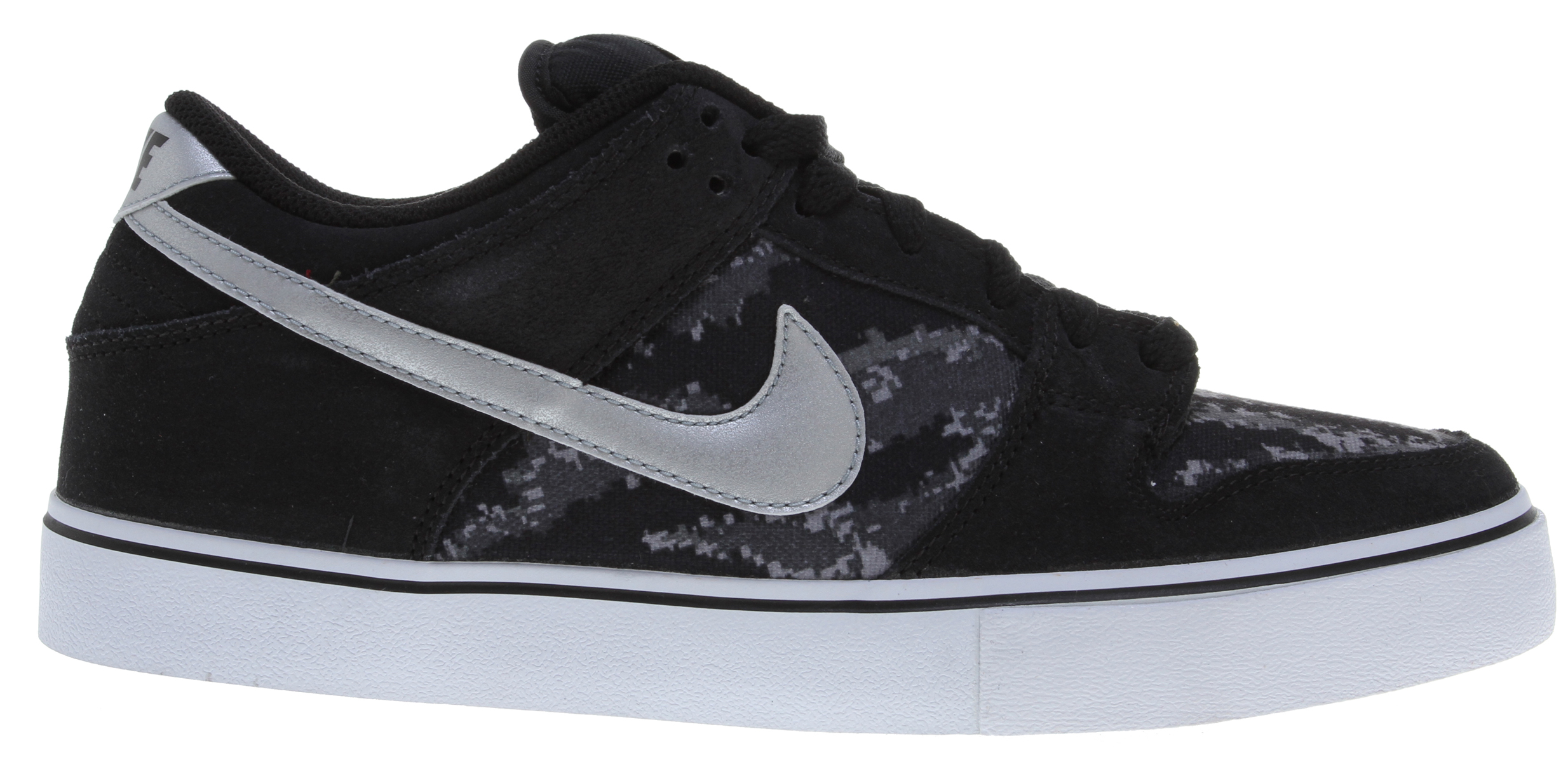 Skateboard Key Features of the Nike Dunk Low LR Skate Shoes: MIDSOLE: Combination drop-in midsole/sockliner designed for maximum comfort and impact protection. UPPER: Leather, suede and Nubuck with classic skate overlays. Lightweight mesh on the tongue and perforations on the vamp for increased breathability. Classic styling with durability and protection. Excellent board control in a low-profile outsole while maintaining good impact absorption. OUTSOLE: Rubber outsole for durability. Designed for flexibility and board feel. - $55.95