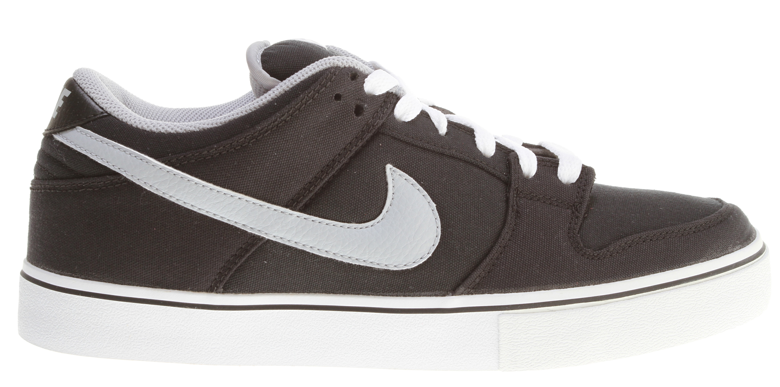 Skateboard Key Features of the Nike Dunk Low LR Skate Shoes: MIDSOLE: Combination drop-in midsole/sockliner designed for maximum comfort and impact protection. UPPER: Leather, suede, and Nubuck with classic skate overlays. Lightweight mesh on the tongue and perforations on the vamp for increased breathability. Classic styling with durability and protection. Excellent board control in a low-profile outsole while maintaining good impact absorption. OUTSOLE: Rubber outsole for durability. Designed for flexibility and board feel. - $51.95
