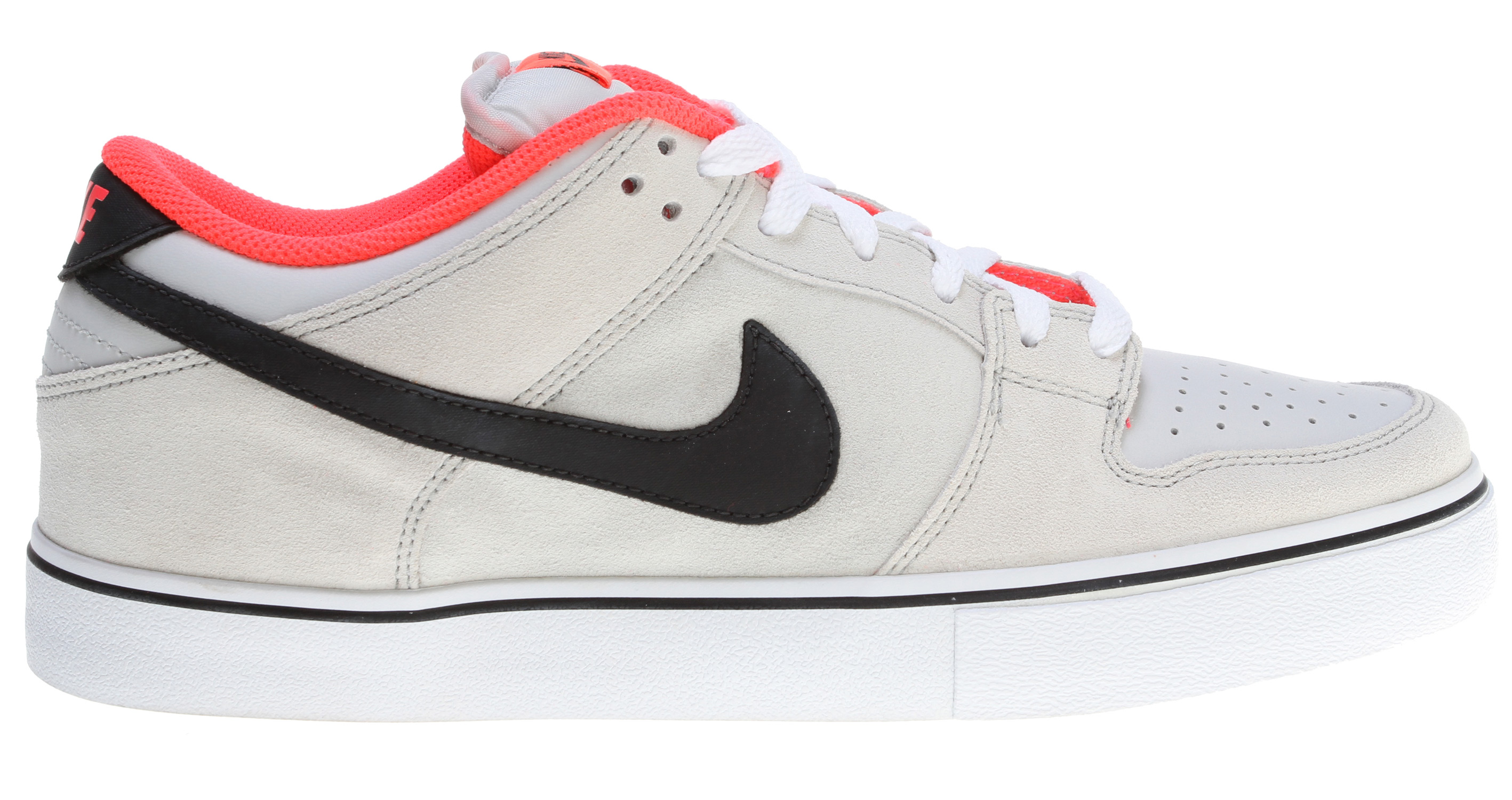 Skateboard Key Features of the Nike Dunk Low LR Skate Shoes: MIDSOLE: Combination drop-in midsole/sockliner designed for maximum comfort and impact protection. UPPER: Leather, suede, and Nubuck with classic skate overlays. Lightweight mesh on the tongue and perforations on the vamp for increased breathability. Classic styling with durability and protection. Excellent board control in a low-profile outsole while maintaining good impact absorption. OUTSOLE: Rubber outsole for durability. Designed for flexibility and board feel. - $55.95