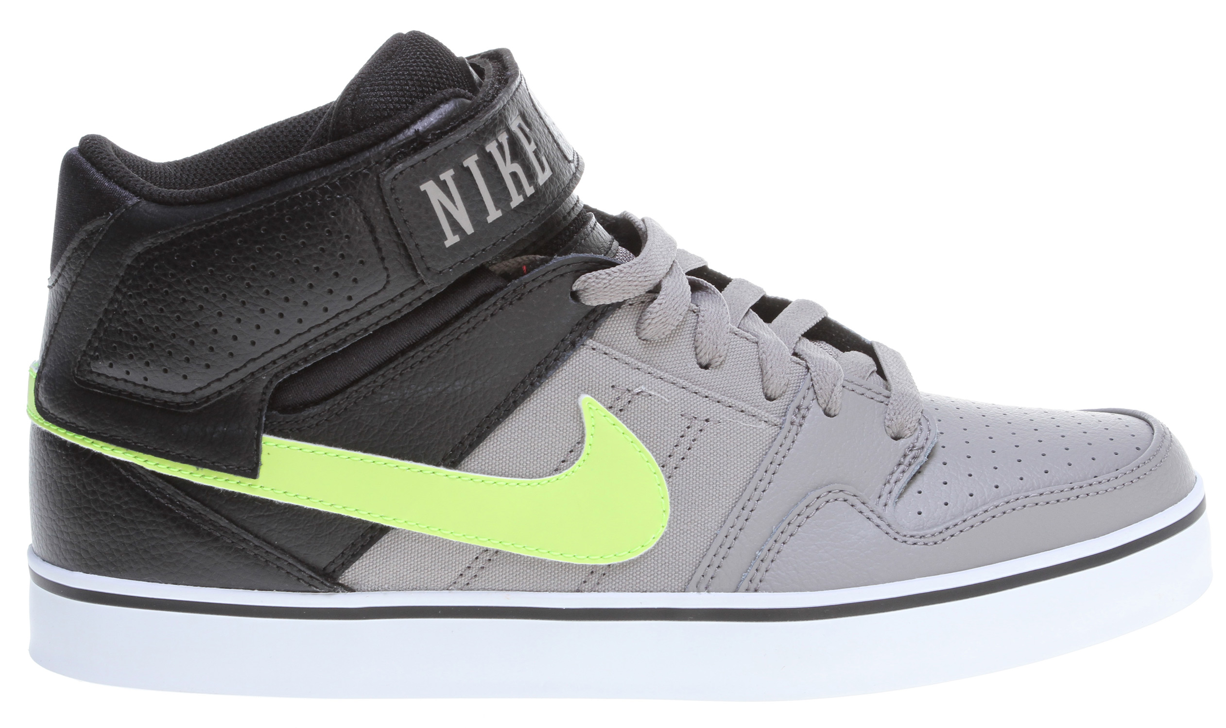 Skateboard Technical midtop with durability protection and excellent board control. Key Features of the Nike 6.0 Mogan Mid 2 SE Skate Shoes: Suede, leather and Nubuck materials. Increased layers for durability. Protective strap design with increased collar height for comfort and fit. Combination drop-in midsole/sockliner designed for maximum comfort and responsiveness. Rubber outsole for durability. Designed for flexibility and board feel. - $78.00