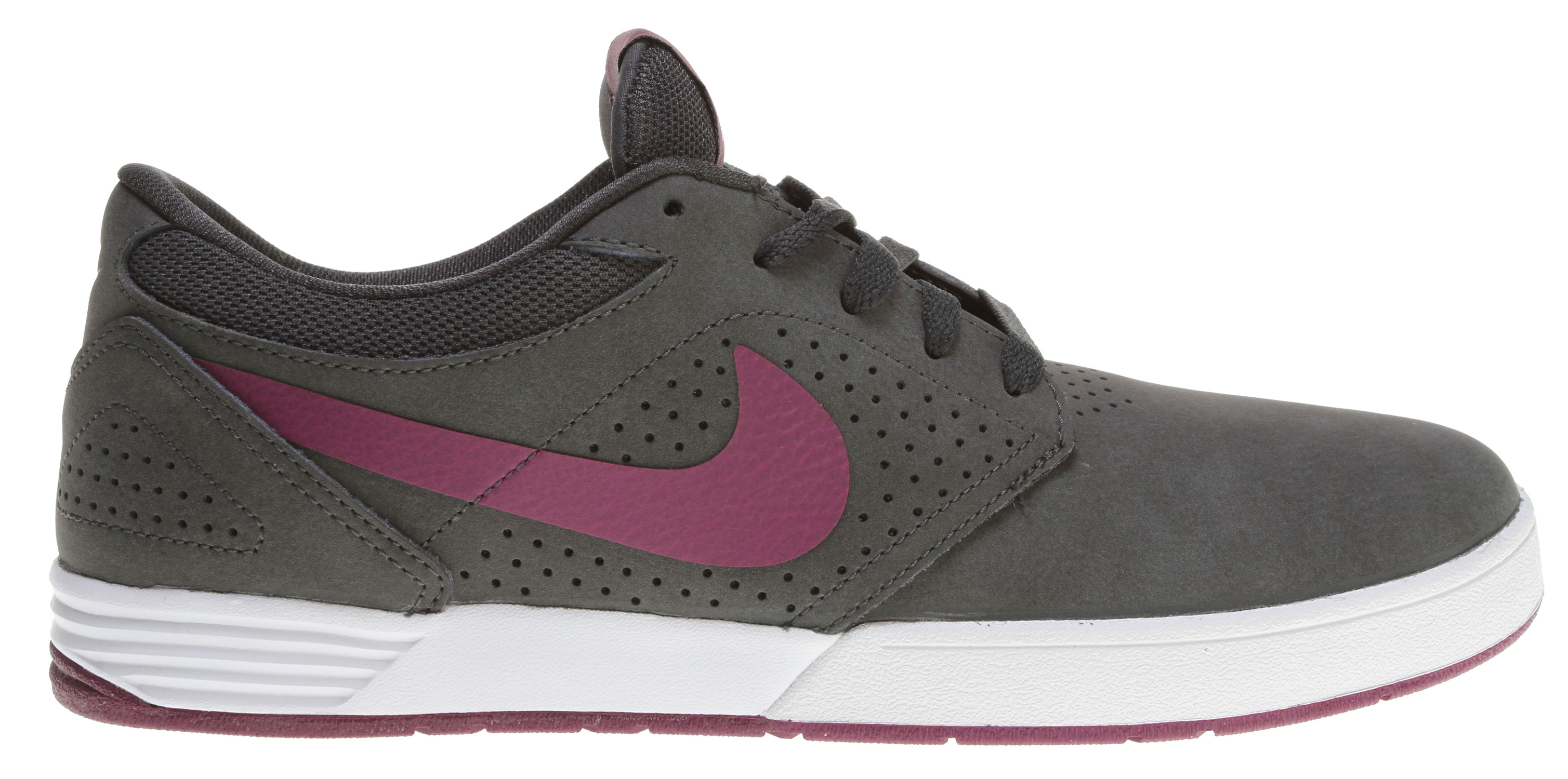 Skateboard Key Features of the Nike Paul Rodriguez 5 Skate Shoes: MIDSOLE: Phylon midsole for comfort. OUTSOLE: Rubber outsole for durability and support. Classic skate look with great material and color applications. UPPER: Suede, leather and Nubuck materials. - $62.95
