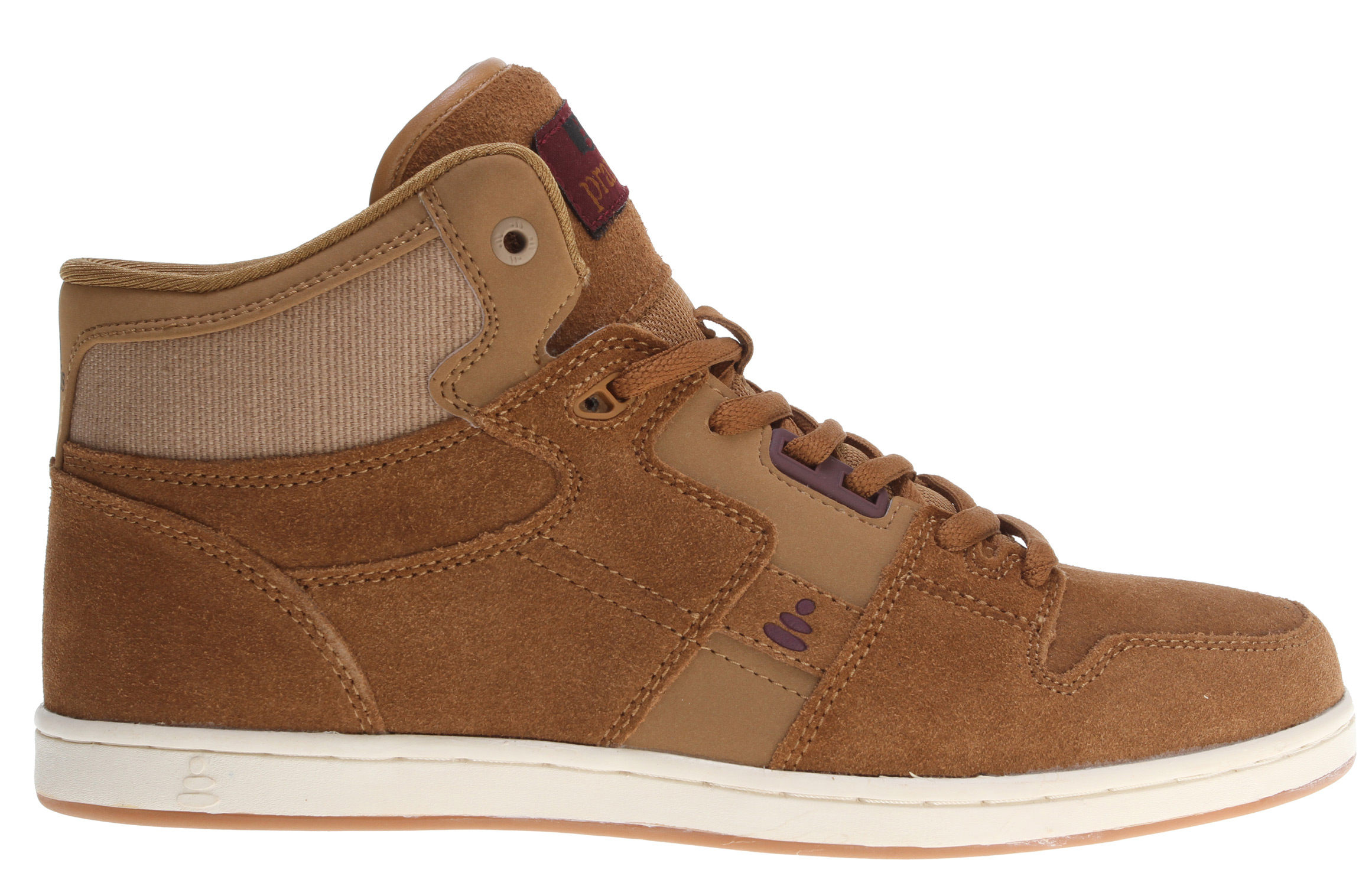 Skateboard Praxis is youthful lifestyle footwear dedicated to the essence of skateboarding. Praxis Footwear is action guided by purpose, and they believe in this for their company and their lives. Praxis promotes a product and outlook that preserves freedom of expression and lifestyle, if that sounds like your cup of tea then drink up.Key Features of the Praxis Freestyle Skate Shoes Tan Suede/Hemp: Synthetic upper Synthetic lining Rubber sole - $45.95