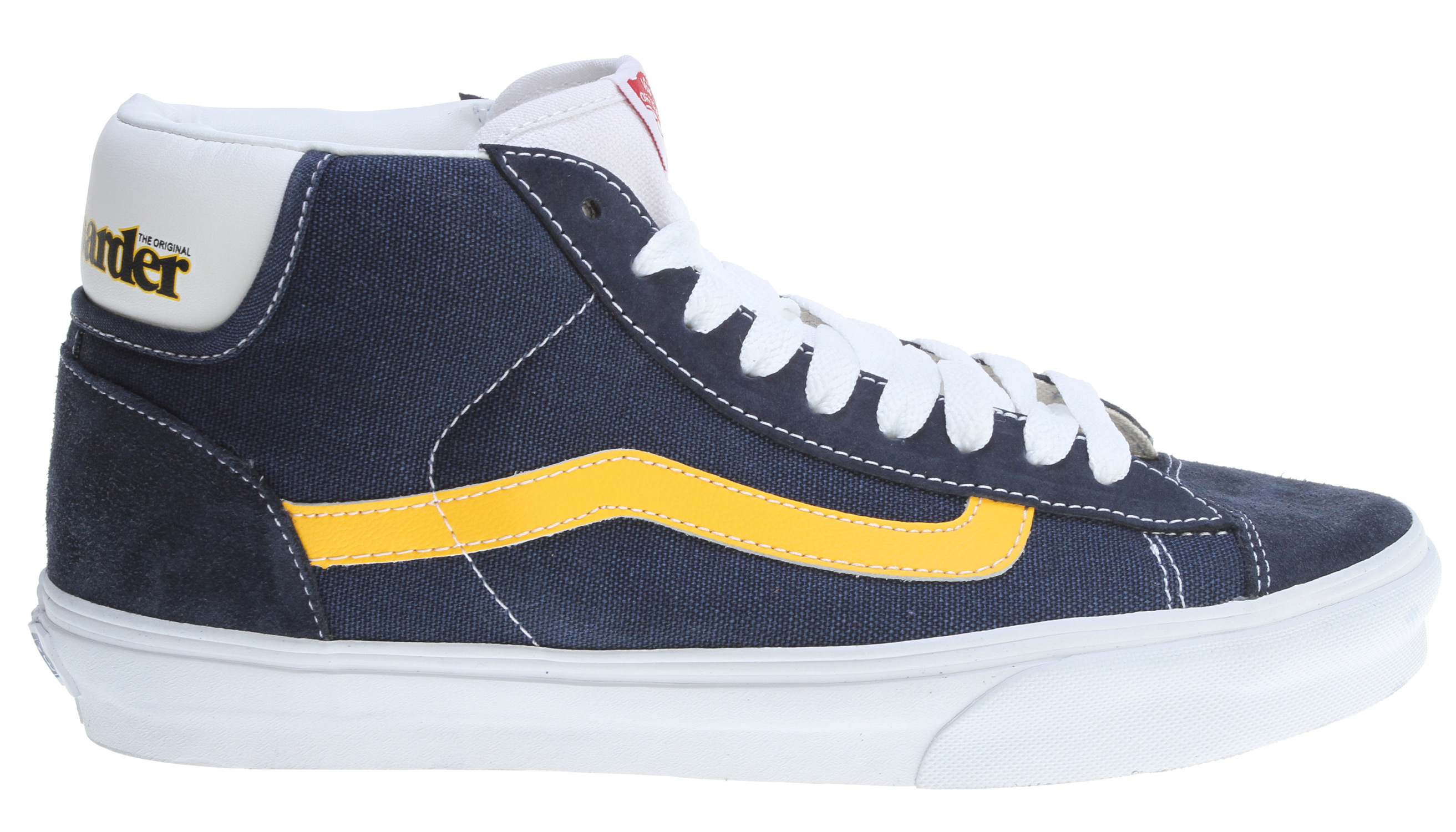 Skateboard Key Features of the Vans Mid Skool '77 Shoes: Combination leather and synthetic uppers Padded tongue and collar Vulcanized sole attachment Traditional gum outsole with waffle pattern Imported - $45.95