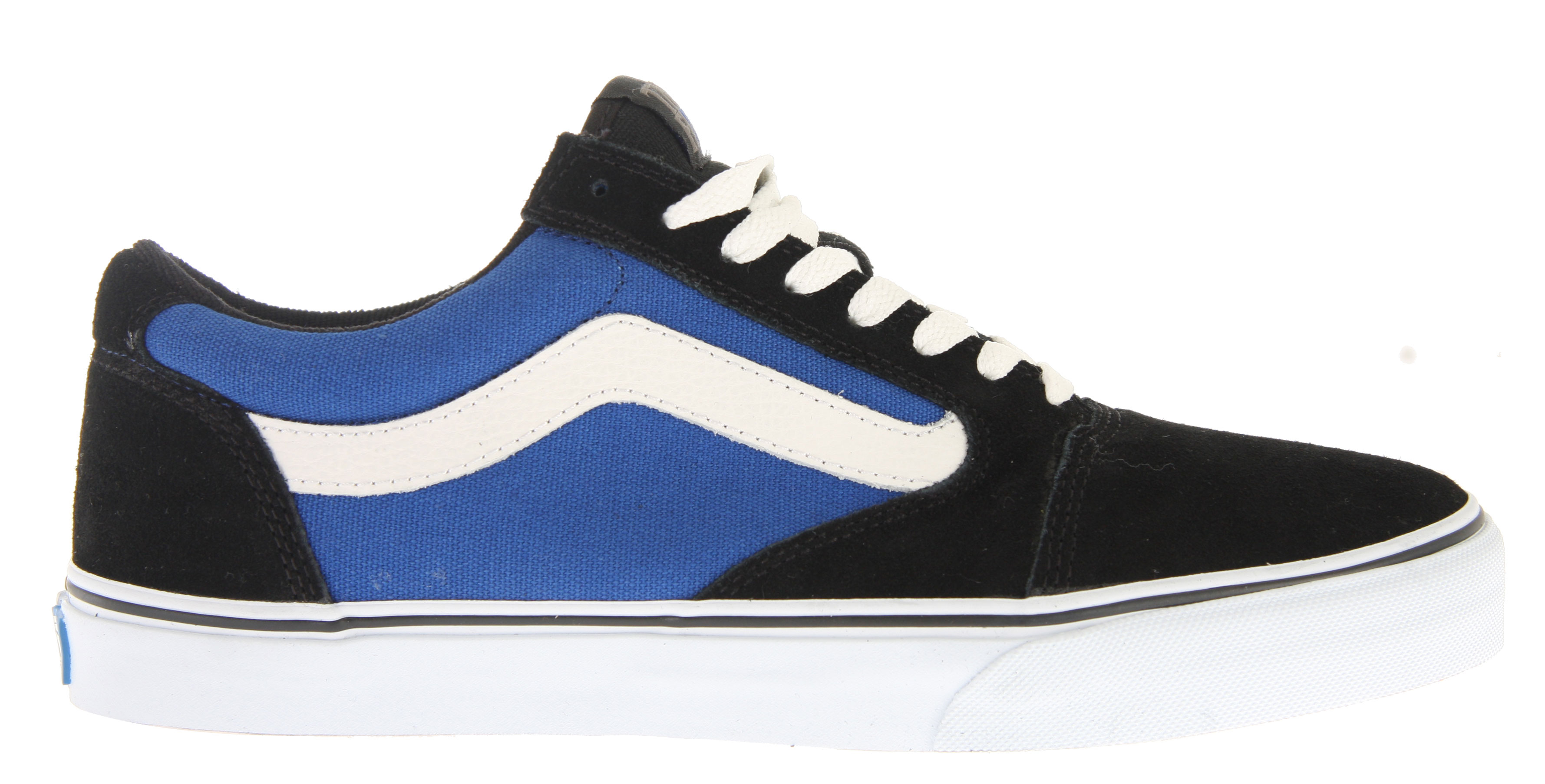 Skateboard Tony's favorite Vans Classic is the Old Skool and the styling cues are evident in the Vans TNT 5 Skate Shoes along with new signature upgrade components. Looks and performance combine in a skate shoe constructed of a reinforced ollie area, removable co-molded sockliner, the classy sidestripe and waffle rubber soles. - $38.95