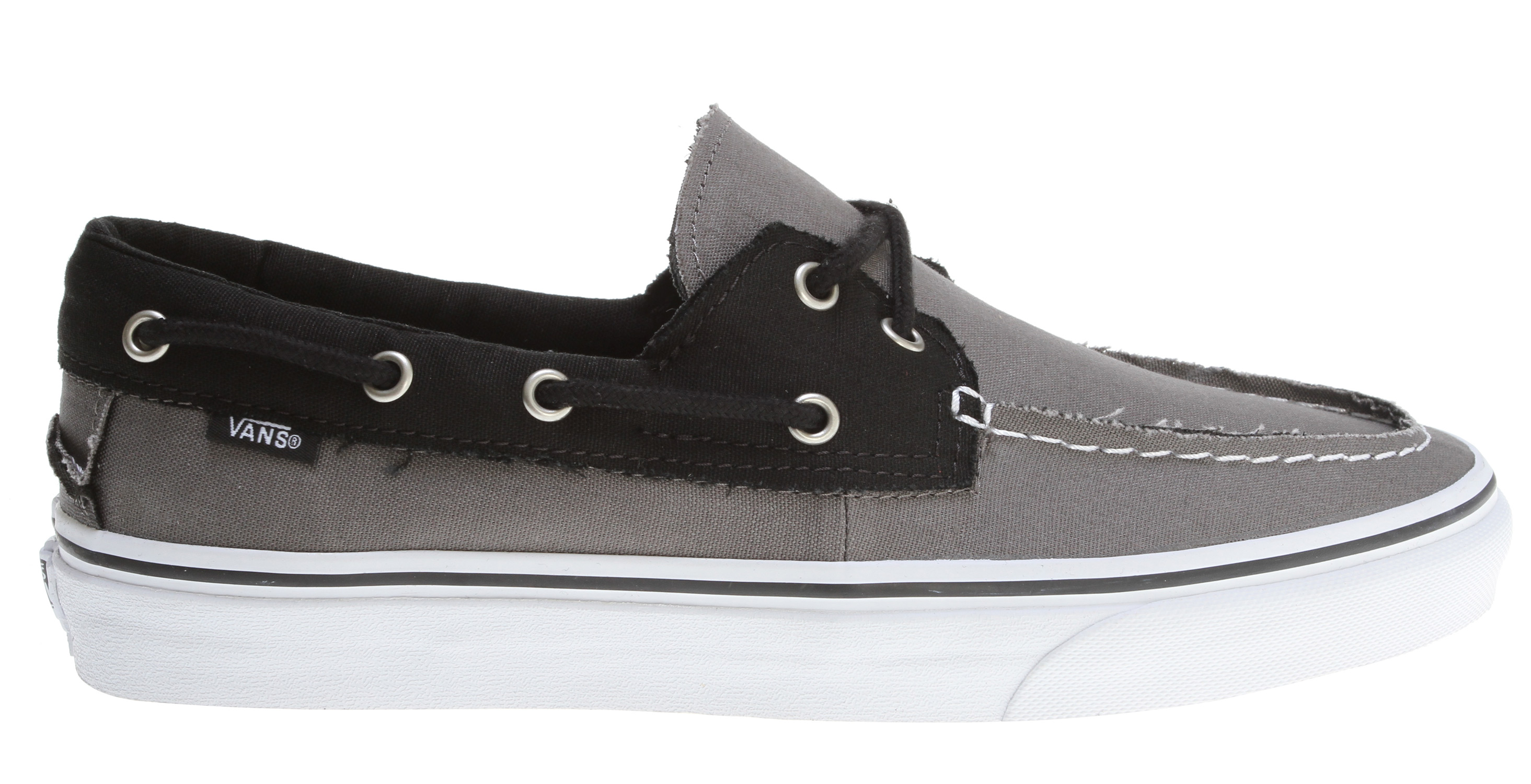 Skateboard Key Features of the Vans Zapato Del Barco Shoes: Canvas uppers. Boat shoe influence. Metal eyelets. Vulcanized outsoles. Unisex sizing. Imported. - $41.95