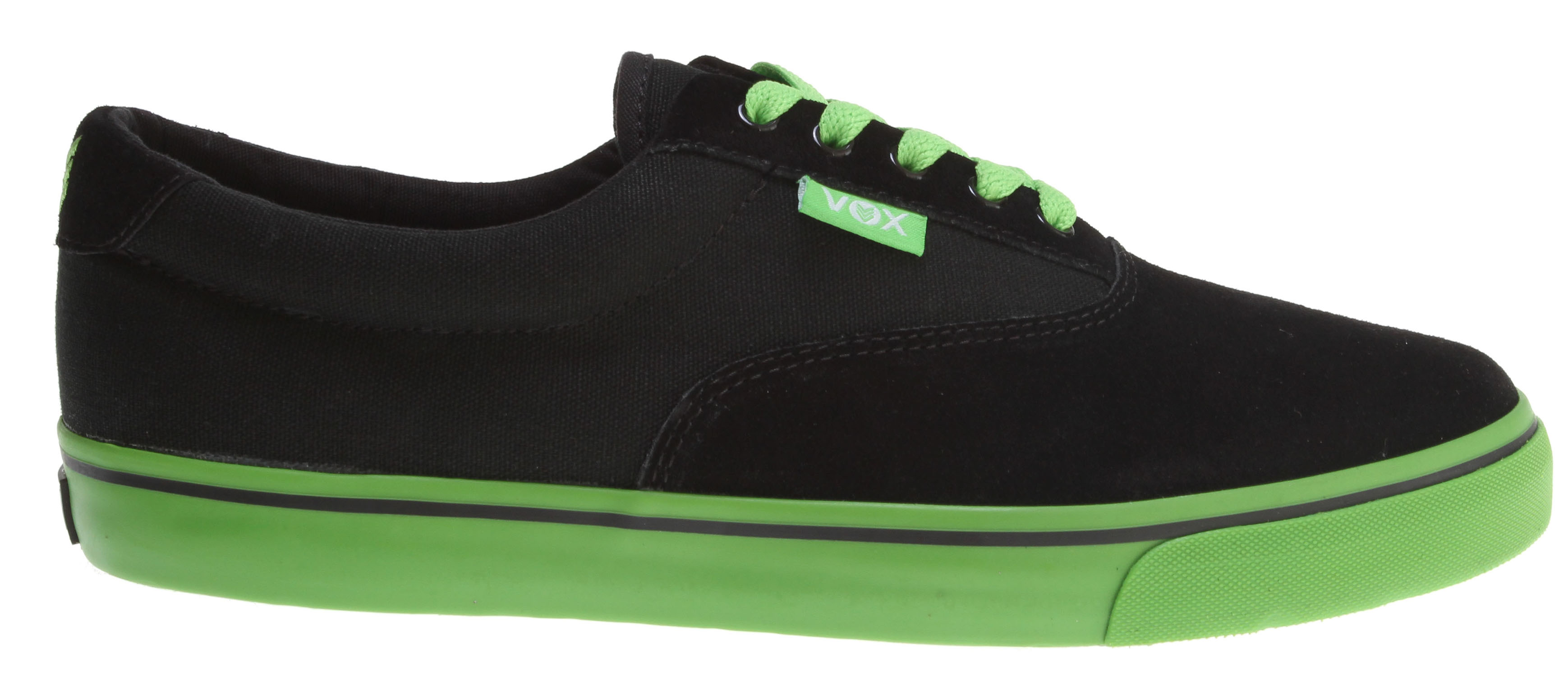 Skateboard Key Features of the Vox Savey Skate Shoes: Vulcanized Construction Suede And Canvas Upper Vox I.R.S. Gel System Gum Rubber Outsole - $28.95