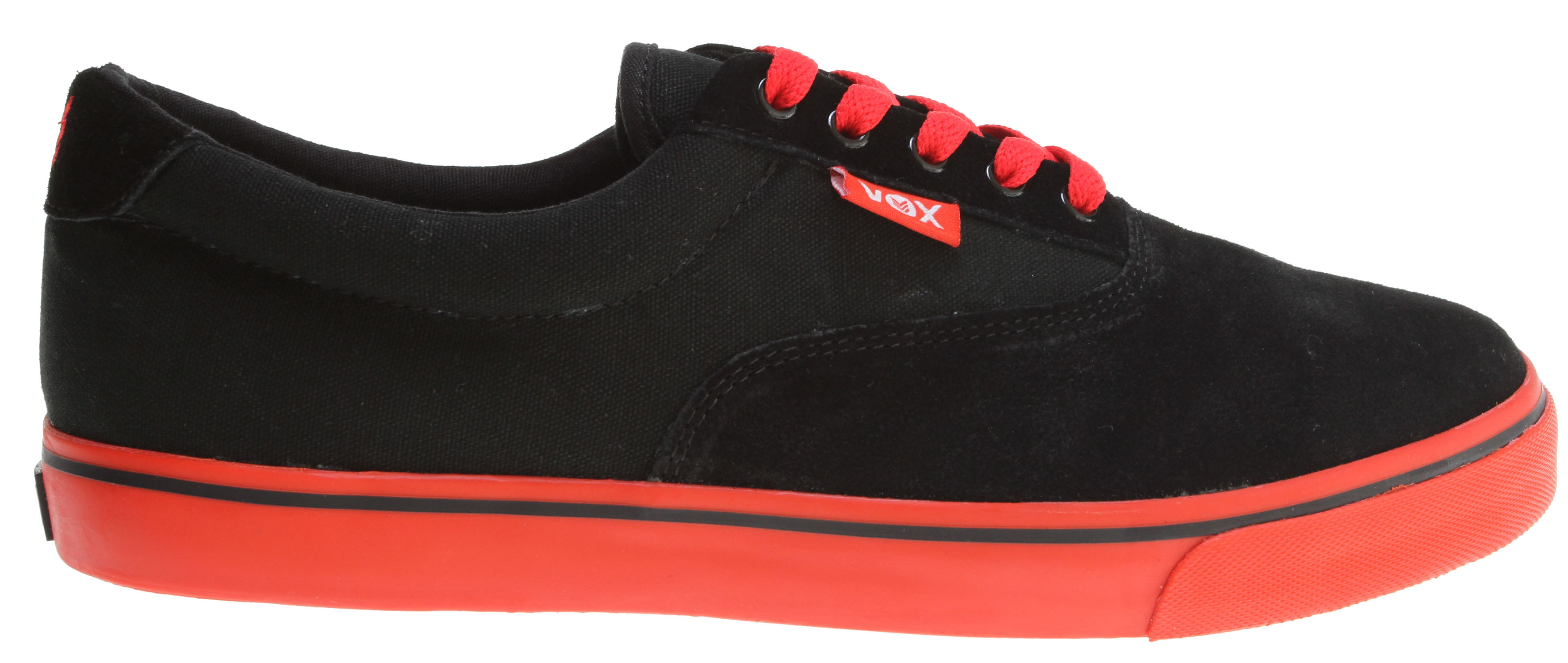 Skateboard Key Features of the Vox Savey Skate Shoes: Vulcanized Construction Suede And Canvas Upper Vox I.R.S. Gel System Gum Rubber Outsole - $29.95