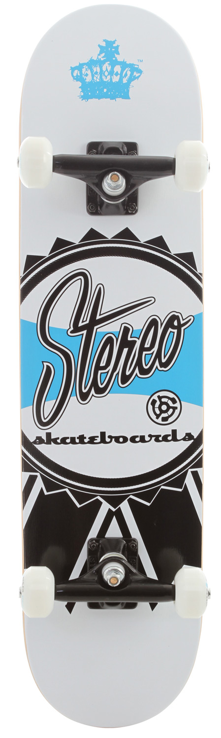 Skateboard Key Features of the Stereo Ribbon Skateboard Complete: Stereo trucks - T5 bearings, Grade 8 kingpins, 90A Bushings 52mm Stereo wheels - $99.00