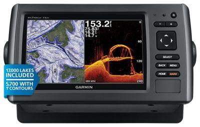 Garmin echomap 73dv hd fishfinder and chartplotter u s for Best rated fish finder