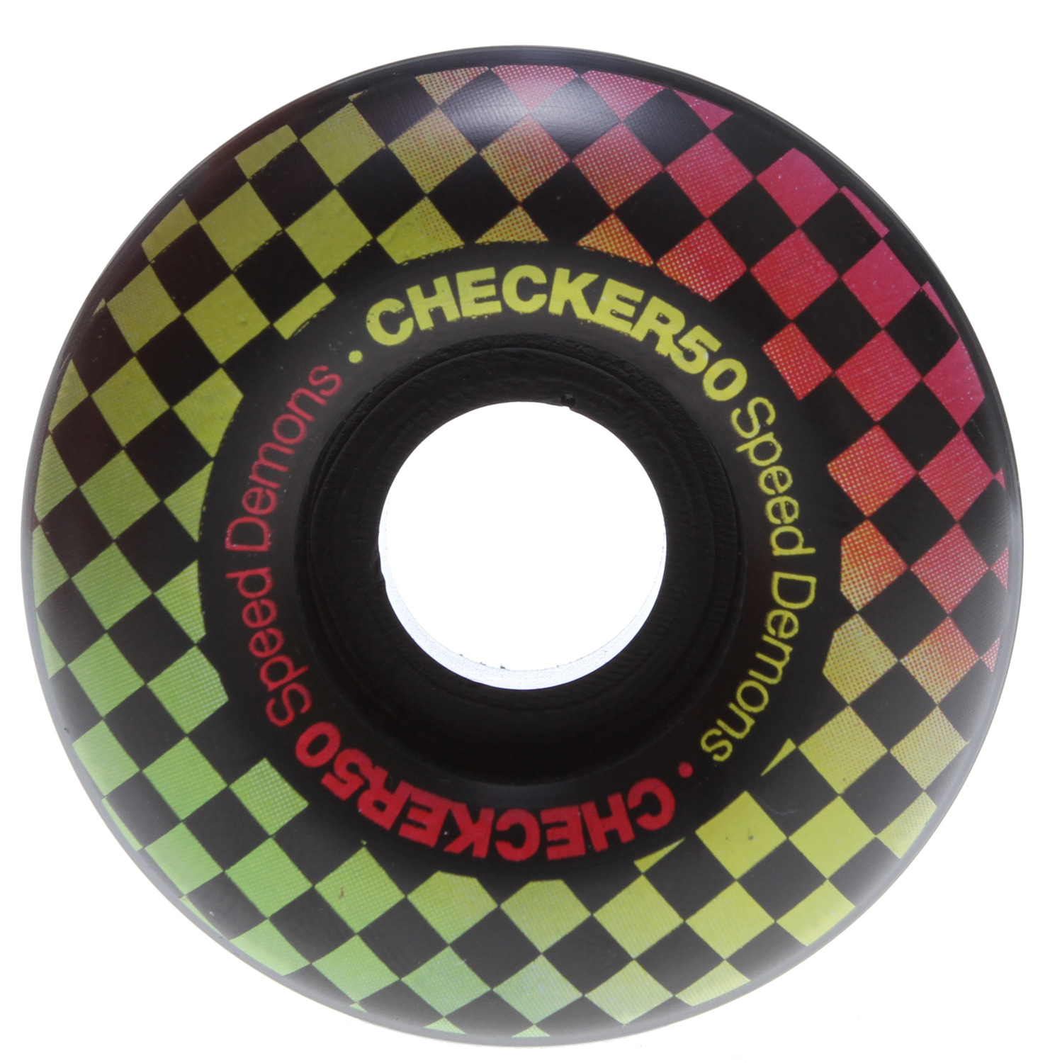 Skateboard Key Features of the Speed Demons Check Fades Skateboard Wheels 50mm: 50mm Wheel Set of four wheels 70A - $12.95