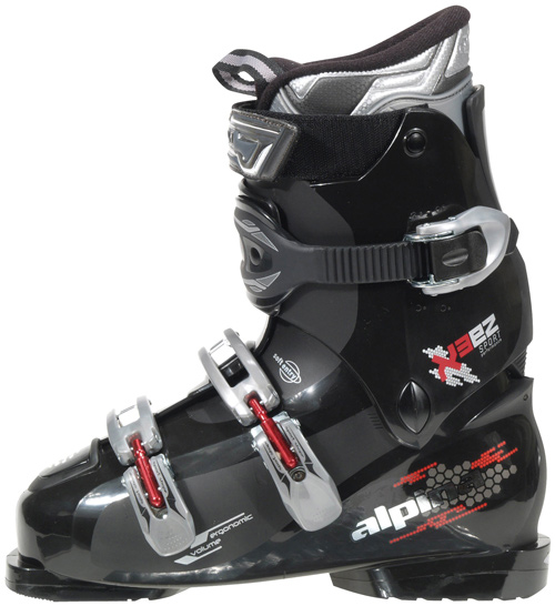 Ski Key Features of the Alpina X3 Ski Boots: Sport fit liner PP shell & cuff material Flex index 50 Men's last Ergonomic shell volume Anatomic footbed Wide fit ratchet buckles Smart buckles Power strap 35mm - $142.95
