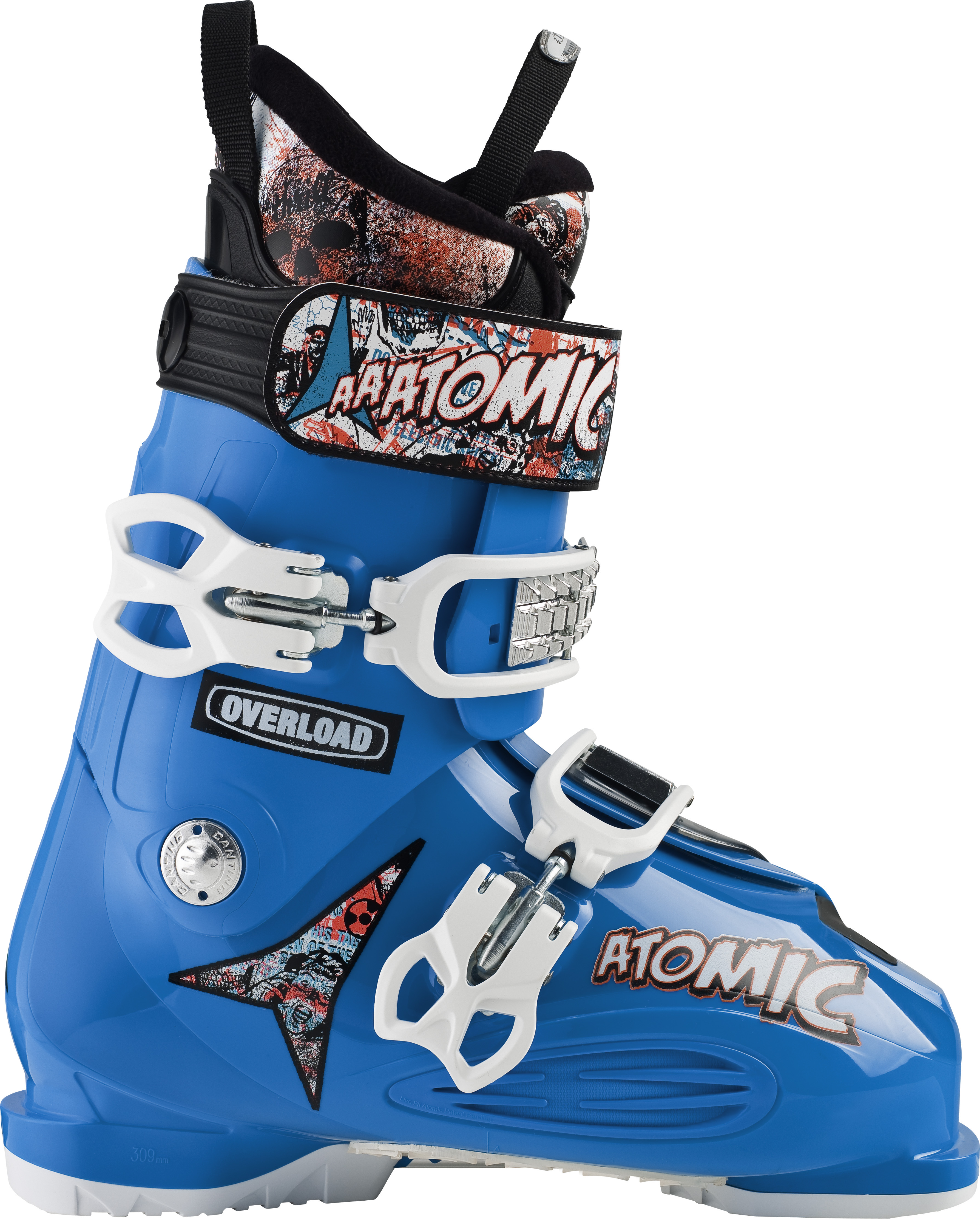 Ski Key Features of the Atomic Overload Reactor Ski Boots: 100 Flex Mega Buckle 45mm Strap ASY Pro Shockilla Liner - $258.95
