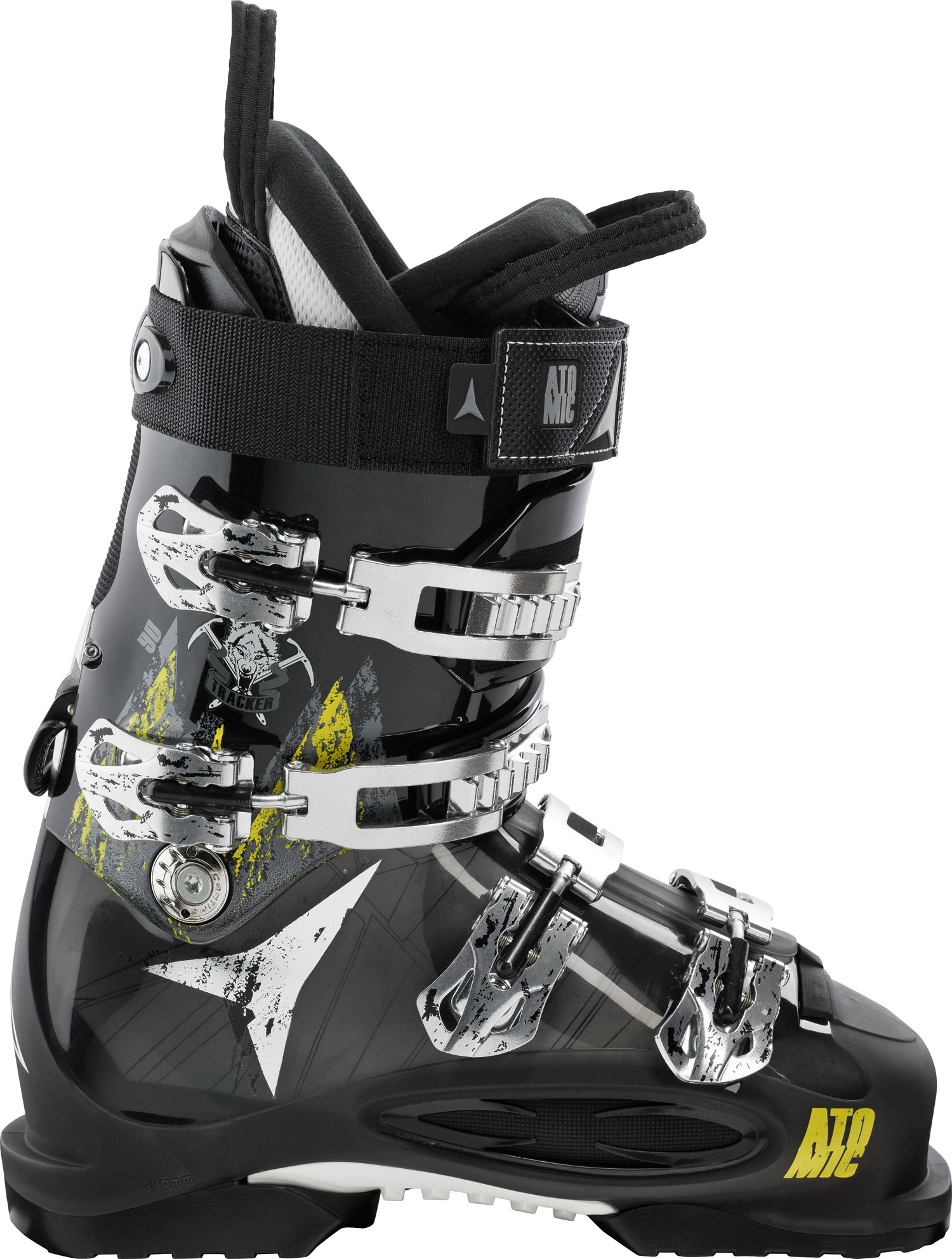 Ski Key Features of the Atomic Tracker 90 Ski Boots: Flex 90 BT 6000 Buckle 35mm Strap Skywalk rubber soles ASY Sport T1 Liner - $314.95