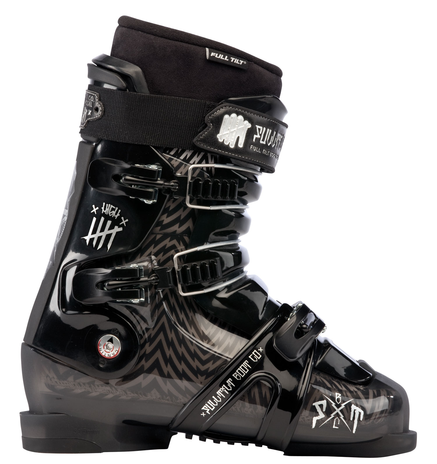 Ski Key Features of the Full Tilt High Five Ski Boots: hell: FTI Influence Last Width: 102mm Tongue (10 = Stiffest Flex): Interchangeable 7 Flex / 5 Ribs Weight g (sizes M 27, W 25): 2025 Sole: Replaceable Rubber Small Heel Buckles: 3 Aluminum Macro Ladder + Micro Closure System: 2 Upper Cables 1 Lower Wrap Strap Forward Cant Adjustment: n/a Lateral Cant Adjustment: 3mm Toe / Heal Height: 18.5mm / 34mm Cuff: Free Hinging Quickfit Liner Model: PRO Open Cell Foam: 4mm Soft Density Intuition Foam: 2mm Regular Density Intuition Foam: High Density Intuition Foam: 7mm Moldable Foam: Intuition Powerwrap: Powerwrap J-Bar: J-Bar Wide Toe: Wide Toe - $349.95