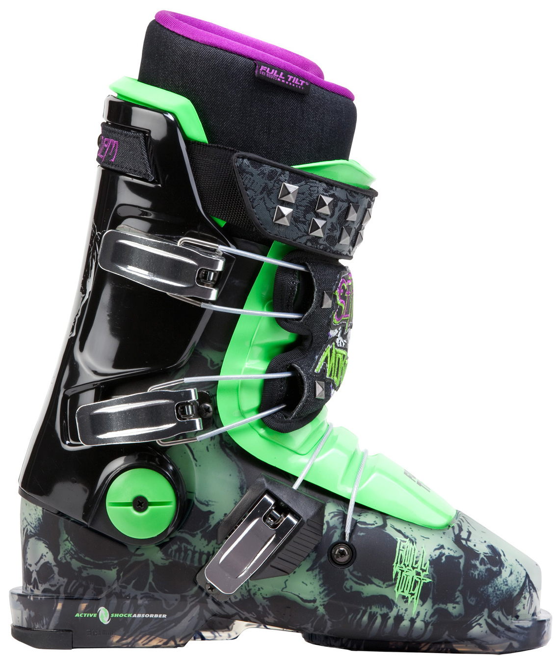 Ski Being one of the most respected big mountain skiers in the world comes with taking some big risks. The one risk Seth refuses to take is to change his ski boots, making the Full Tilt Seth Morrison ski boot a necessity in staying on the top of his game. He credits the Original 3-Piece ski boot design's shock absorbing natural ankle flex, ultra light weight & responsive construction, plus our Pro Quick-Fit liner with Intuition foam that molds 100% to your feet for giving him the ability to ski like few others can, year after year.Key Features of the Full Tilt Seth Morrison Ski Boots: Original Shell 3-Piece Design, 99mm width last #8 Flex / 7 Rib tongue for maximum power with natural flex Active Bootboard absorbs Seth sized vibration & impact 3 Cable closure eliminates deadspots for even pressure Aluminum ratchet buckles for durable micro adjustments Pro Liner highest performance that molds 100% to your feet - $519.95