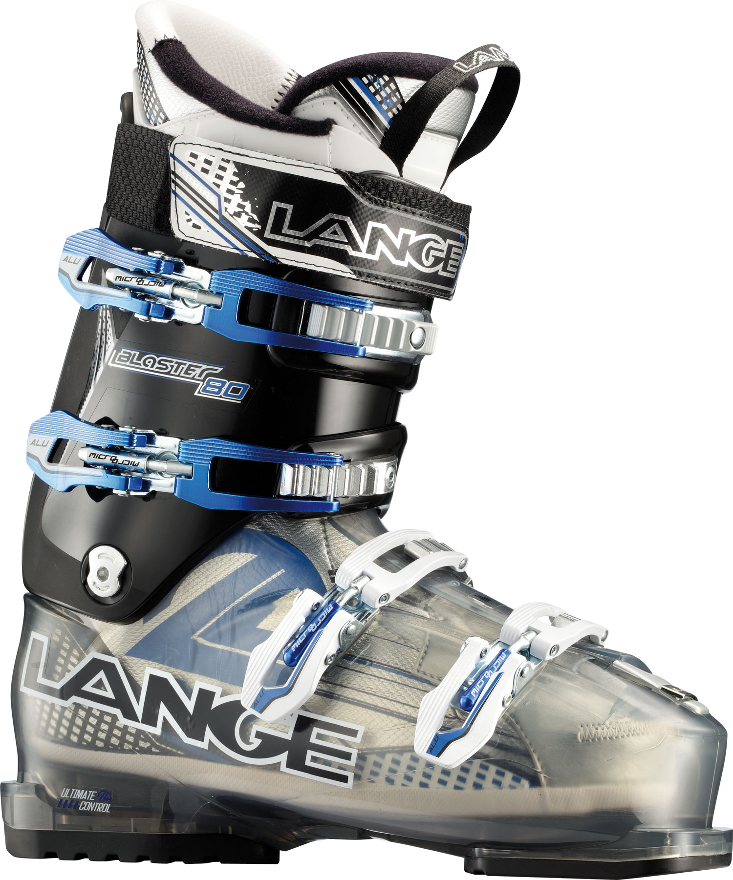 Ski Blaster boots deliver a unique blend of all-day comfort and all-mountain performance. Lange's Control Fit, 102mm last and easy entry/exit provides enhanced comfort and warmth. The easy-to-use ski/hike feature and Ultra-Grip replaceable soles provide increased comfort and traction for quick hikes or extended apres ski. Meanwhile the narrower, more articulated heel pocket and modern and efficient stance provides exceptional lateral quickness and downhill performance simply not found in other 102mm boots.Key Features of the Lange Blaster 80 Ski Boots: Last Width 102mm Flex Index 80 Liner Control Fit Canting +/- 1,5 degree Power Strap 35mm Shell Material Polyether Cuff Material Polyolefin Soles Polyurethane Grip - $244.95
