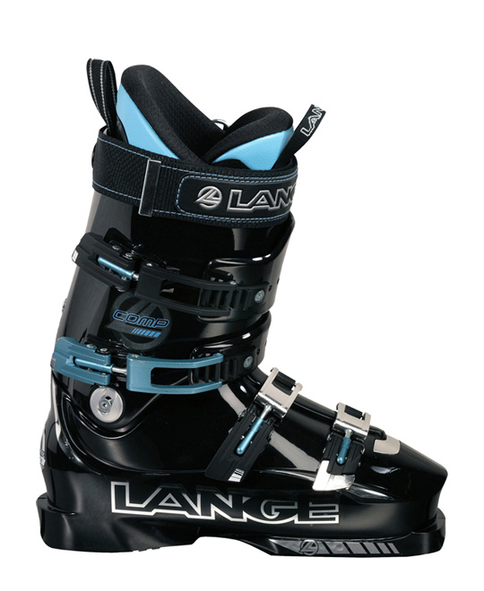 Ski The Lange Comp ski boot is the softest version of the Super Comp. The short flex range of the Comp is much shorter and quicker to engage which puts more energy into the ski and allows the skier to pressure the front of the ski with more aggression. The design of the lower shell includes a near vertical medial wall which allows the foot to sit closer to the inside edge. Complete with a Custom Fit liner with a Neoprene toe box and removable rear spoiler the Comp is designed for high performance skiing.Key Features of the Lange Comp Ski Boots: Color: Black Flex: 110 Last: 97mm Shell: RL 12 Size: Half Size Only 22.5-30.5 4 Micro WC 1 EZ Open Buckles 40mm Power Strap Custom Fit Liner Polyurethane Material Racing Tongue Rigid Boot Board Slalom Sensor Sole T-nut Catch - $399.95
