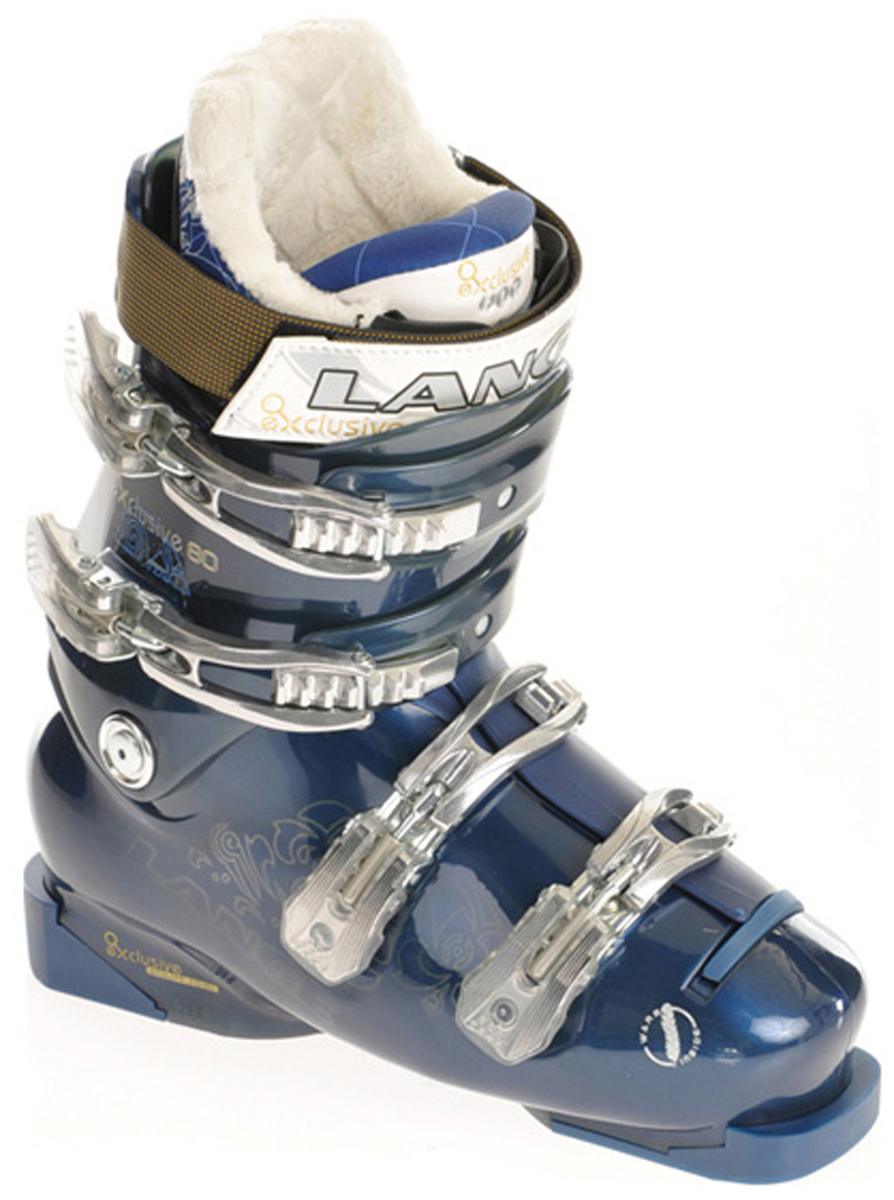 Ski For Advanced and intermediate women's skiers, the Lange Exclusive 80 ski boot provides comfort and skiability. - $173.95