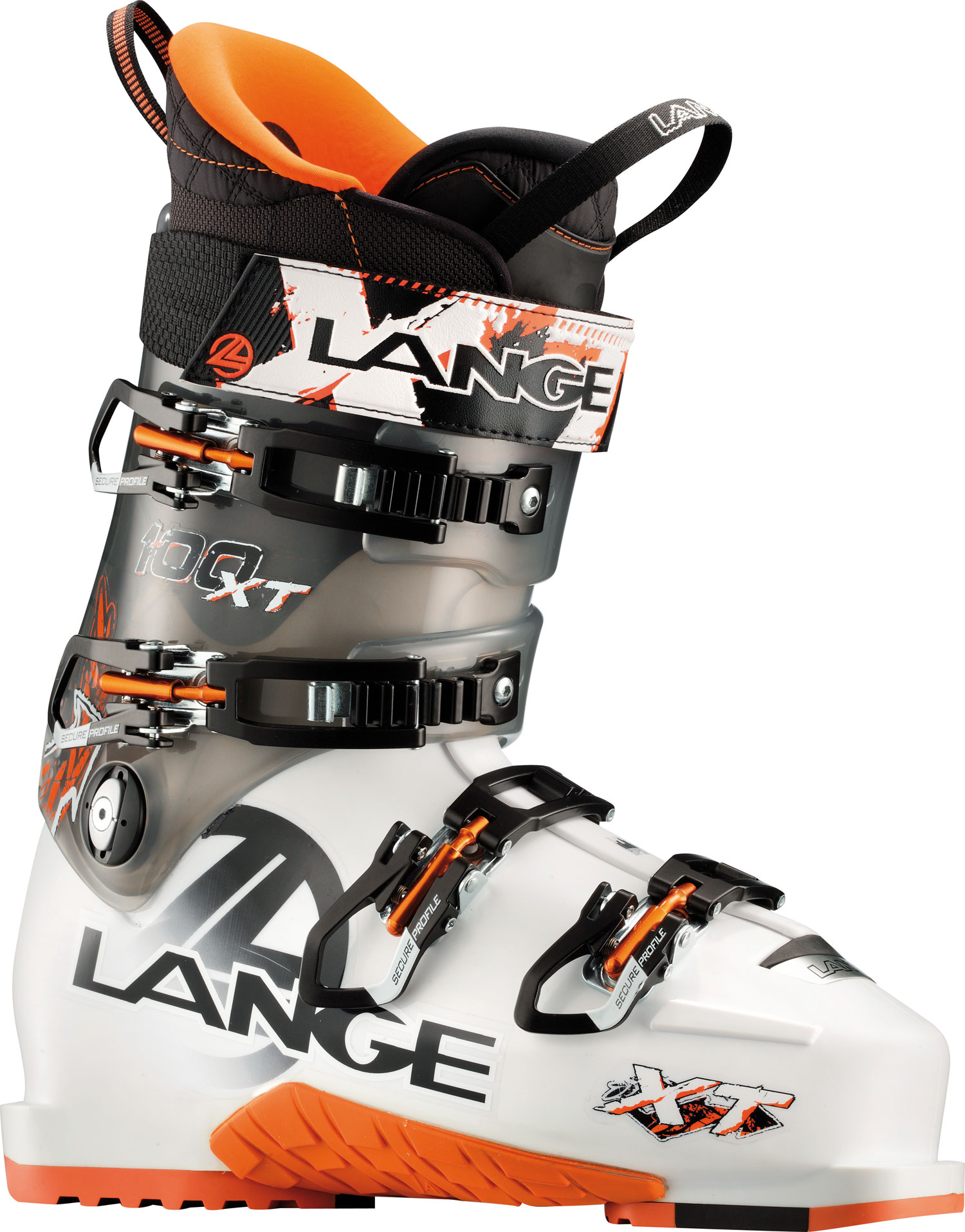 "Ski Lange's new XT boots are the first, no-compromise high-performance boots that climb. Natural Stance, mono-injected shells and Control Fit are combined with ultra-durable grip soles and arches, lightweight components, and Power V-Lock shell technology. The unique new, patented Power V-Lock provides excellent climbing range-of-motion. But, unlike all other AT and ""sidecountry"" boots, XTs feature a structurally superior, performance lower shell. The Power V-Lock integrates into the lower shell for powerful downhill high-performance skiing. XT boots are the first-of-their-kind, no-compromise freeride-adventure boots for committed skiers. Key Features of the Lange XT 100 Ski Boots: Last Width 97mm / 100mm Flex Index 100 Liner Light Weight, Control Fit, Laced Canting +/- 1,5 degree Power Strap 40mm Shell Material Polyurethane Cuff Material Polyolefin Hp Soles Max Grip Sole, Ultra Grip Arch - $425.95"