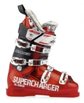 Ski The Nordica Blower Ski Boots are well-worth every cent of the purchase because of their steadfast build and remarkably comfortable and mobile fit. This tough boot comes equipped with 4 micro-aluminum buckles and 2 additional server lock buckles on the cuff in order to ensure that your foot stays comfortably inside of the boot itself without feeling loose or cramped. The shell and cuff both consist of soft polyether in order to reinforce both the consistency and comfortably of the boot.Key Features of the Nordica Blower Ski Boots: Sizes: 4-10 UK Shell and cuff material: Tr. Polyether- SOFT Liner: Performance Fit FSE Footbed: Performance Fit Pro Flex index: 115 Buckles: 4 Micro Alu 2 Servolock on cuff Velcro strap: TWIN ENERGY DRIVER (by BOOSTER), 45 mm Wedge: Full Shock Eraser Front spoiler: Direct Driver Rear spoiler: Quick Set Spoiler FSE Heel height: 43mm Base color: transparent red-transparent black - $399.95