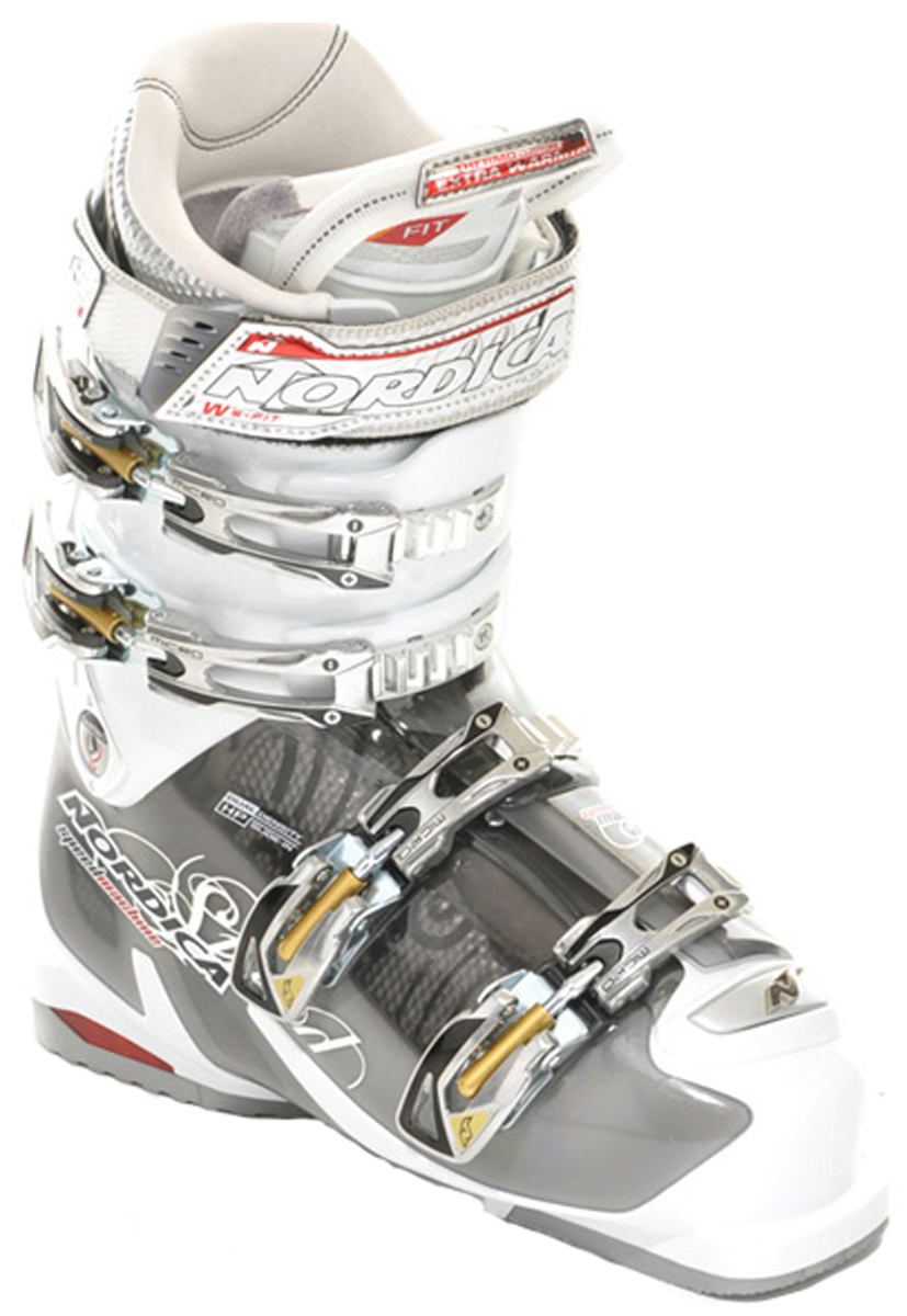 Ski Key Features of the Nordica Speedmachine 115 Ski Boots: SHELL AND CUFF MATERIAL: Tr. Polyether Bi-Injected CUFF PROFILE: W's with ACP LAST WIDTH: 100mm FLEX INDEX: 115-105 EASY ENTRY SYSTEM: HP Slide-In SOLE: Anti-Slip LINER: PFP Performance W's Fit Heat Ready - $464.95