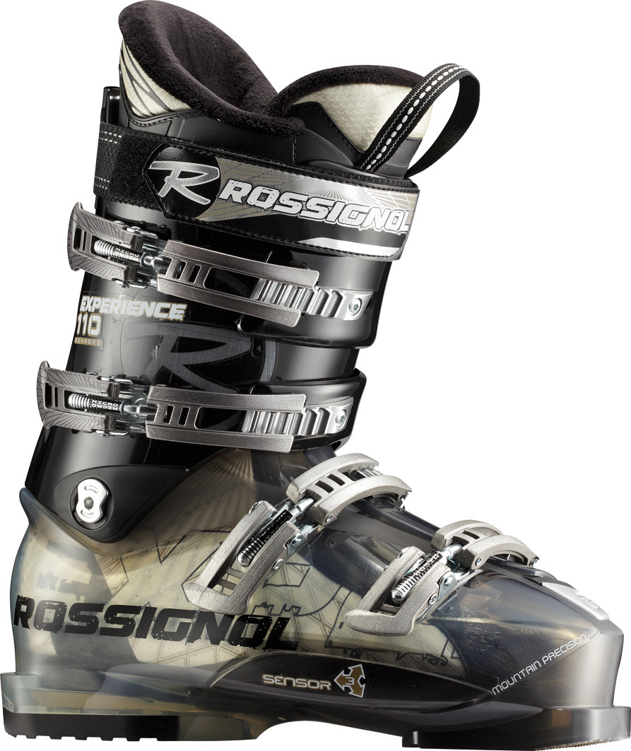 "Ski The Sensor3 boot has a 100mm ""medium"" fit. As with all Sensor boots, Rossignol has developed one of the most versatile, accurate-fitting boot designs in skiing. The Sensor3 shell is based on years of analysis and a 3D imaging system to deliver a medium ""V"" shape in the forefoot, modern toe box, accommodating instep, articulate ankle pocket and strong heel cup. By combining the asymmetrical toe box, versatile-fitting instep and more articulate ankle area, the all new Sensor3 simply fits more feet well and delivers more control than any other 100mm boot on the market.Key Features of the Rossignol Experience Sensor3 110 Ski Boots Transparent / Black:  The Sensor3 shell  Neutral stance, 4.5 degree ramp angle and 14 degree forward lean  Easy entry and exit  Sensor Fit Liner  Last: 100mm  Flex: 110  Size: 24.5-31.5  Shell: Polyether  Padding: PE Molded - $406.95"