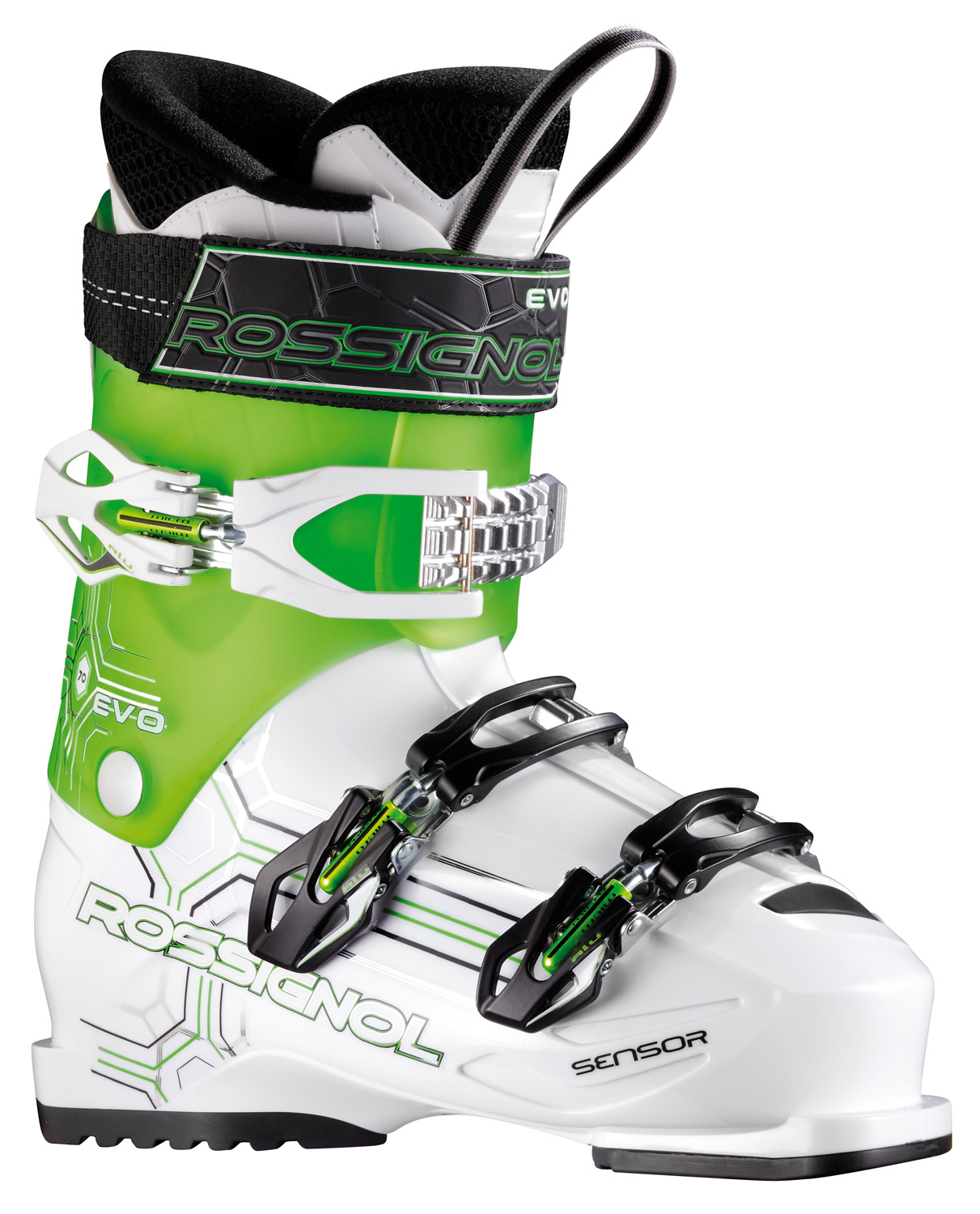 Ski Key Features of the Rossignol Evo 70 Ski Boots: Material : new polyolefine Padding : machined pu Last : 104 mm Flex : 70 - $139.95
