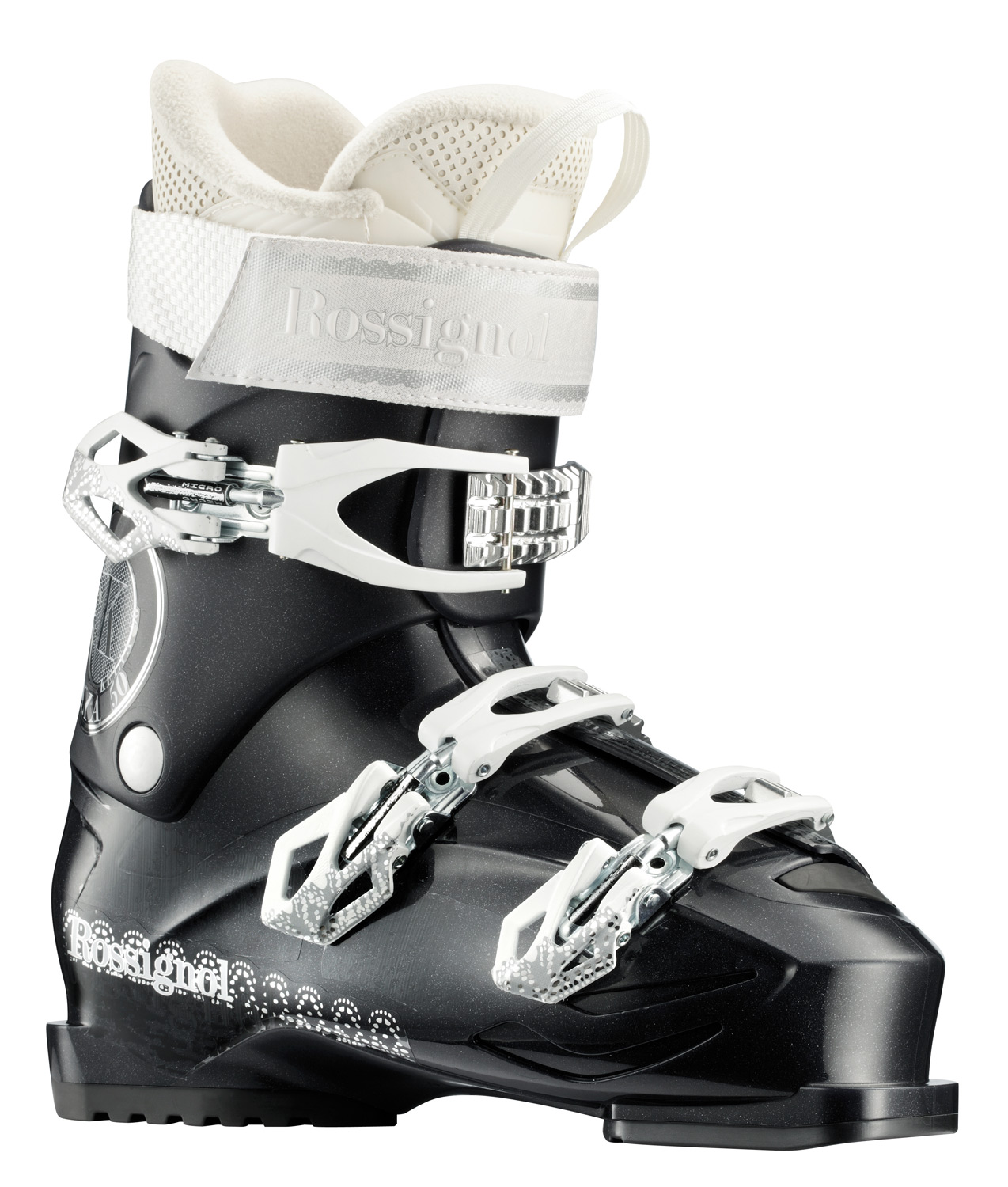 Ski Key Features of the Rossignol Kelia 50 Ski Boots: 104mm last 50 Flex index Sensor Shell Sensor Fit Liner 3-Buckle Design Women's F.I.T. Easy Entry Concept Neutral Stance Available Sizes: 22.5-27.5 (Half-sizes) - $164.95