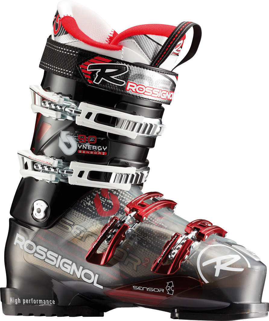 "Ski The Sensor; boot has a 102mm ""medium wide"" fit. The Sensor; shell is based off the highly successful Sensor3 (100mm) boot with a medium wide ""V"" shape in the forefoot, modern toe box, accommodating instep, articulate ankle pocket and strong heel cup. By combining the asymmetrical toe box, versatile-fitting instep and more articulate ankle area, the all new Sensor; simply fits more feet well and delivers more control than any other 102mm boot on the market.Key Features of the Rossignol Synergy Sensor2 90 Ski Boots: The Sensor2 shell uses a boot board that connects the three key receptor points to the boot sole. The direct link with the stiffer bi-injected lower shell produces enhanced power, control and feel. Neutral stance delivers more control, better balance and minimizes fatigue. Neutral stance includes a laterally neutral cuff, 4.5 degree ramp angle and 14 degree forward lean. Notches in the plastic along the instep allow for easy entry and exit without compromising four buckle overlap boot performance. Sensor Fit Liner: Solves all the common problem fit issues. Sensor Fit simply fits more feet better. Last: 102mm Flex: 90 Size: 24.5-31.5 Shell: Polyether Padding: PE Machined - $226.95"