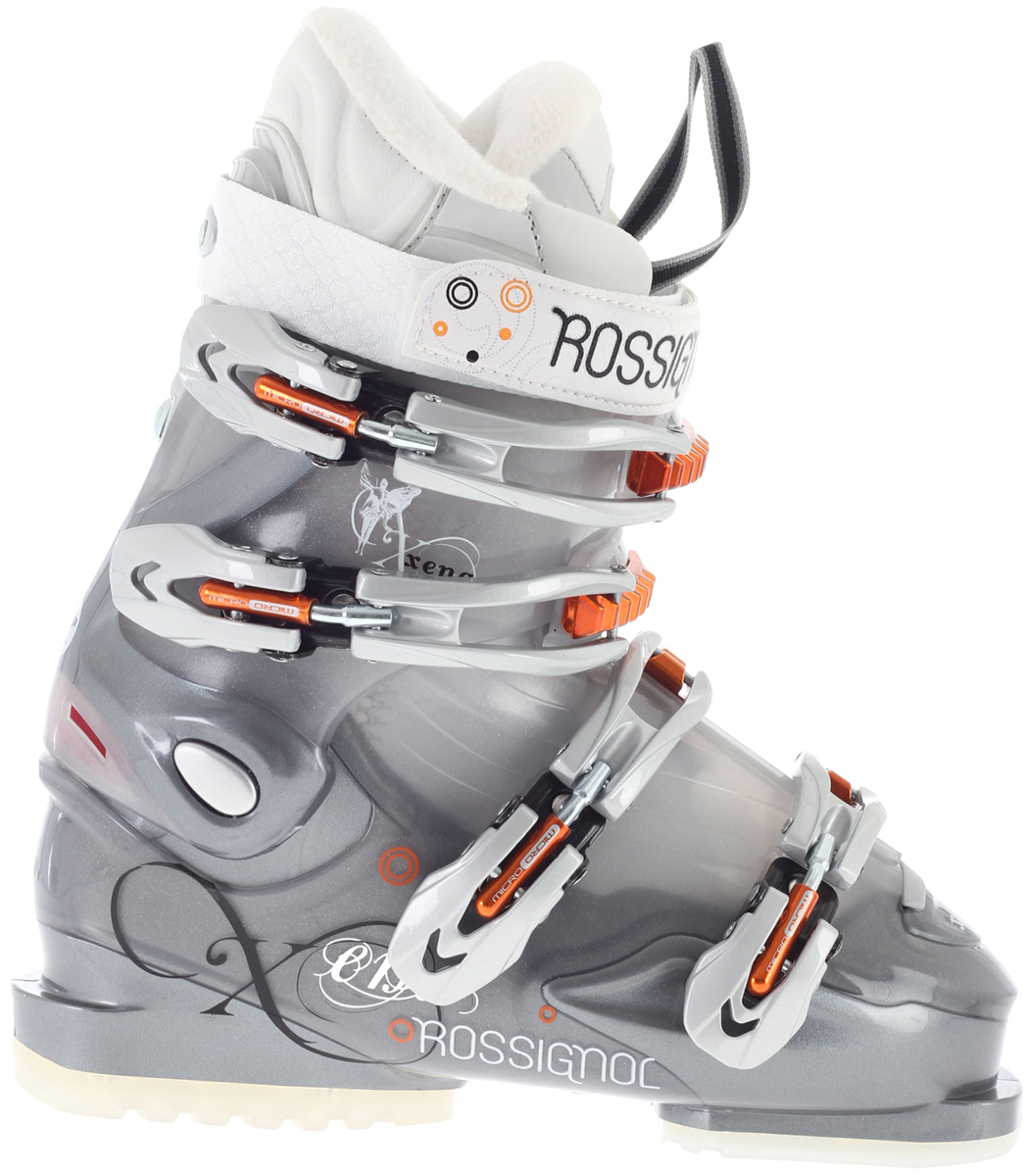 Ski The Rossignol Xena X50 Ski Boot is for intermediate and progressing women skiers looking for an easy-to-enter boot with high skiability.Key Features of the Rossignol Xena X50 Women's Ski Boots: Flex: 60/50 Last: 104mm - $161.95