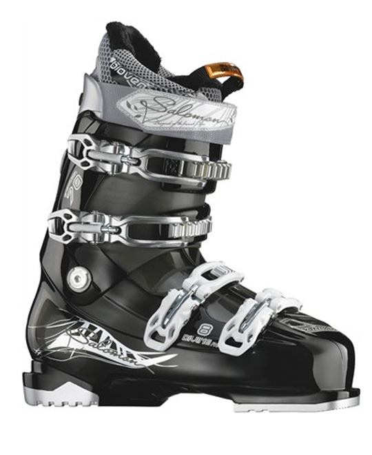 Ski The Salomon Divine really lives up to its name. One look at these are you are immediately in Heaven. These boots are amazing. They look wicked sweet and the design just defines elegance. That's not the only great things about these boots, they will increase your performance while skiing and will comfort your feet as well. They won't break off the ski bindings and will support you while you go down the slopes. These are amazing and for a price like that, this is an offer no one should pass up.Key Features of the Salomon Divine Rs 8 Ski Boots: My Custom Fit Performance Bi-Material PU Upper Cuff Bi-Material PU Lower Shell Biovent Flex: 70 Last: 102 Strap: 35 - $299.95