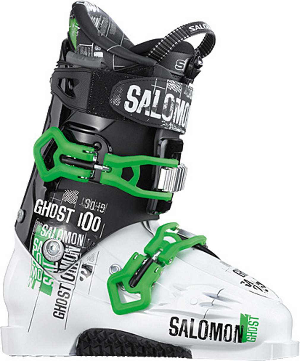 Ski Key Features of the Salomon Ghost 100 Ski Boots: World cup advanced shell technology Double canting Shock absorbing footboard My Custom Fit Pro Sensitive liner - $291.95