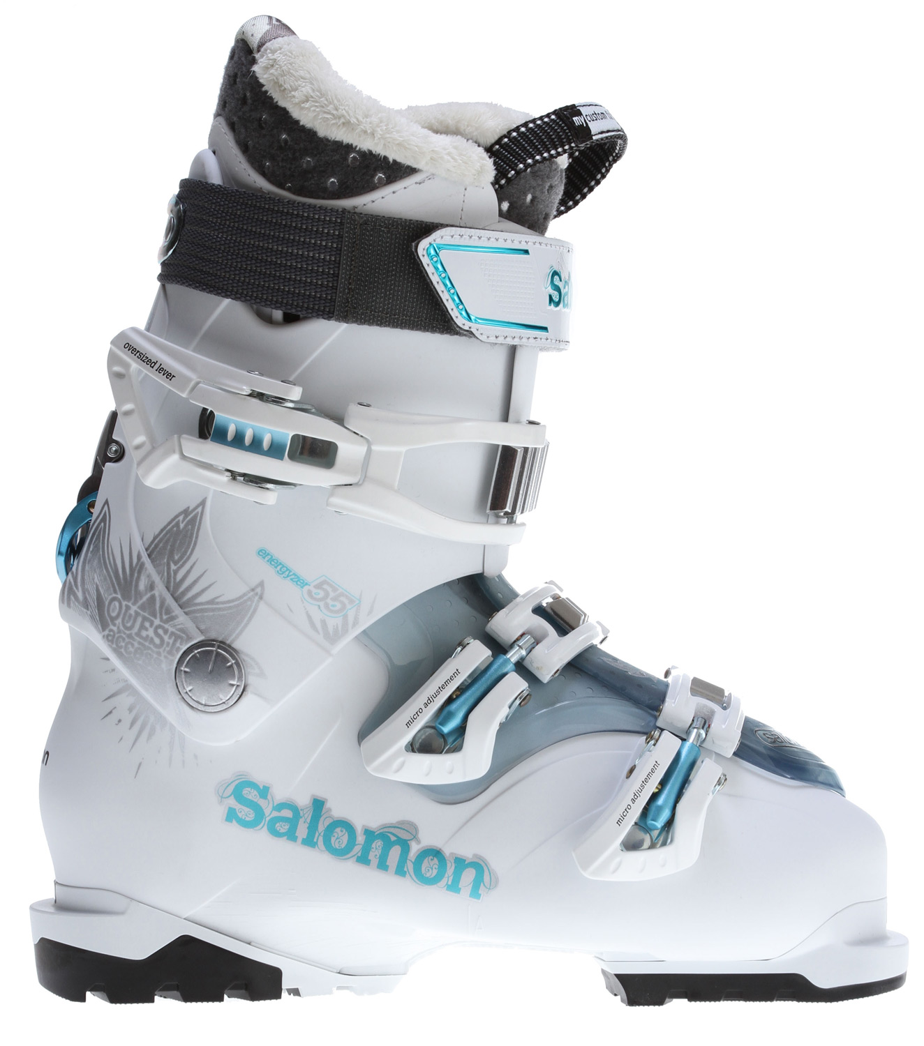 Ski The Salomon Quest Access 55 Ski Boots are for you ladies who need a performance boost. These boots are perfect for a weekend on the slopes, or an entire season of shredding madness if you so choose. They include ride and hike technology, as well as a custom fit comfort design making them one of the best boots on the market. Also included on the Quests are removable heel and toe DIN pads that ensure walking causes no discomfort. The Salomon Quest Access 55 Ski Boots are available in a variety of colors and styles, and best of all have a two year manufacturer's warranty.Key Features of the Salomon Quest Access 55 Ski Boots:  Ride and Hike Technology  My Custom Fit Comfort  Woolmetal  Backbone Release  Boot Board  Heel and Toe Removable DIN Pads  Women Specific Liner  Specific Women Cuff - $205.95