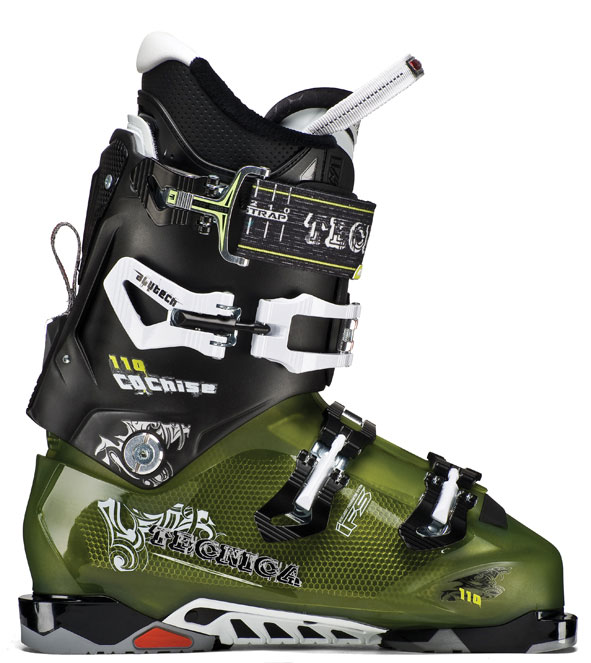 Ski Key Features of the Tecnica Cochise 110 Ski Boots: Flex 110 Last 100 Liner ultra fit Pro interchangeable Soles: Comes with Din Soles, tech Compatible Soles available i-rebound flex Management Quick instep Arch grip insert rubber tecni-grip heel Cuff Alignment Velcro rear Spoiler: adjustable & removable 45mm Velcro Powerstrap with buckle 3 Alu buckles Shock absorbing zeppa triple Position Cuff Catch hinged instep Catch neoprene toe box - $419.95