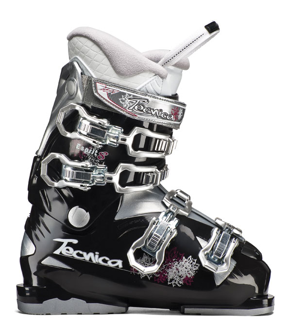 Ski Speed, power, beauty, and class are all words that could be used to describe the Technica Esprit 8 Ski Boots. The Esprit boots feature a heat moldable interior which forms to your feet in the presence of body heat to ensure the ultimate level of comfort as your blaze your way down the mountain side. These boots also feature 4 steel buckles to ensure that the boots remain in place. The Technica Esprit 8 Ski Boots are perfect for any winter skiing occasion.Key Features of the Tecnica Esprit 8 Ski Boots:  Flex 60  Last 104  Liner Comfort fit  PCS liner System  PCS footbed  Power Spoiler  Progressive flex System  Steel buckles  Triple Position Cuff Catches  Women's flared Scalloped Calf  Women's Calf Adapter Construction  Tongue handle Pull Strap  Women's Comfort fit liner - $138.95