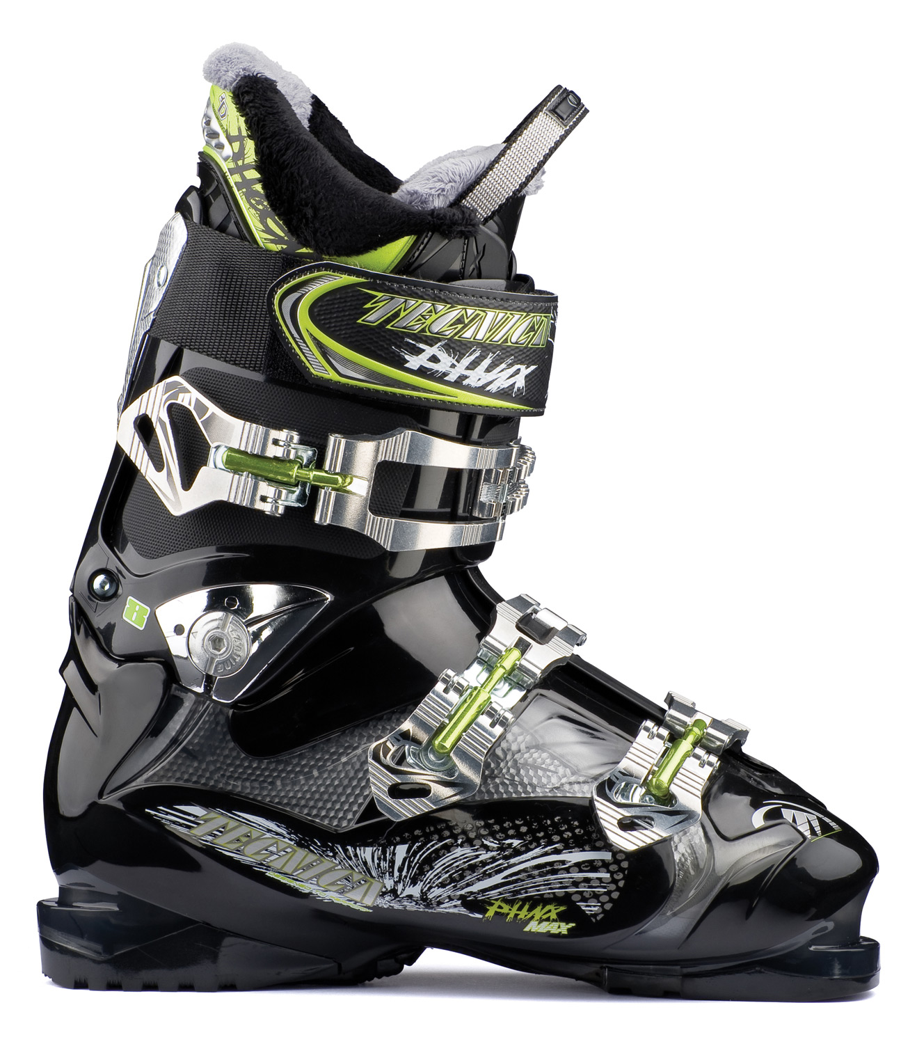 Ski Key Features of the Tecnica Phoenix Max 8 Ski Boots: 3 Density Technology Cuff Alignment Rear Cuff Plate 45mm Velcro Powerstrap Alu Buckles 9 Teeth Cuff Catch with walk position Tongue Handle Pull Strap 3D ComfortFit Liner Flex: 80 Last: 102mm: C-E Widths - $239.95